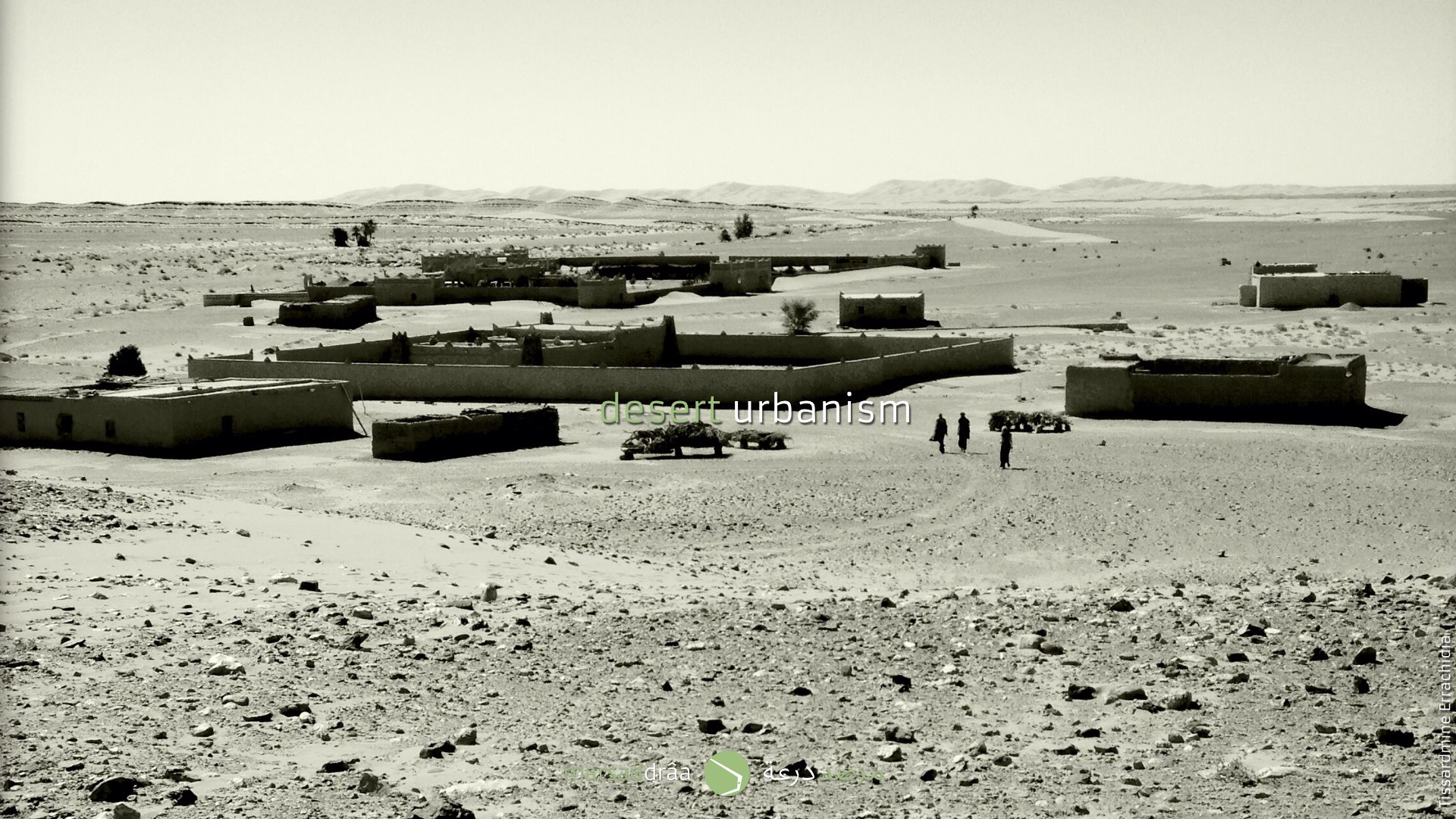 Villages must be adapted to a life with sand, that's way they protect their plots with a rammed earth wall.