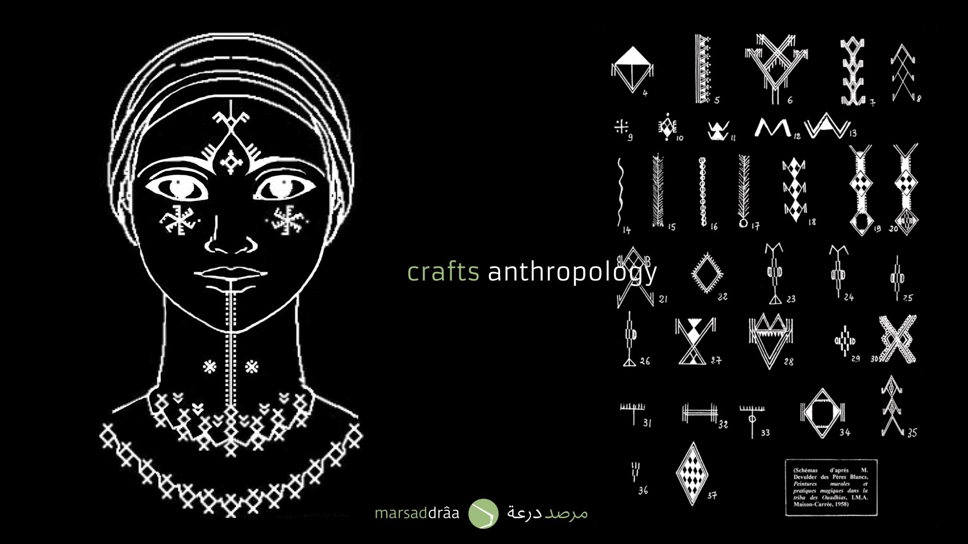 These motifs are Berber tattoos used by women to protect themselves from some beliefs.
