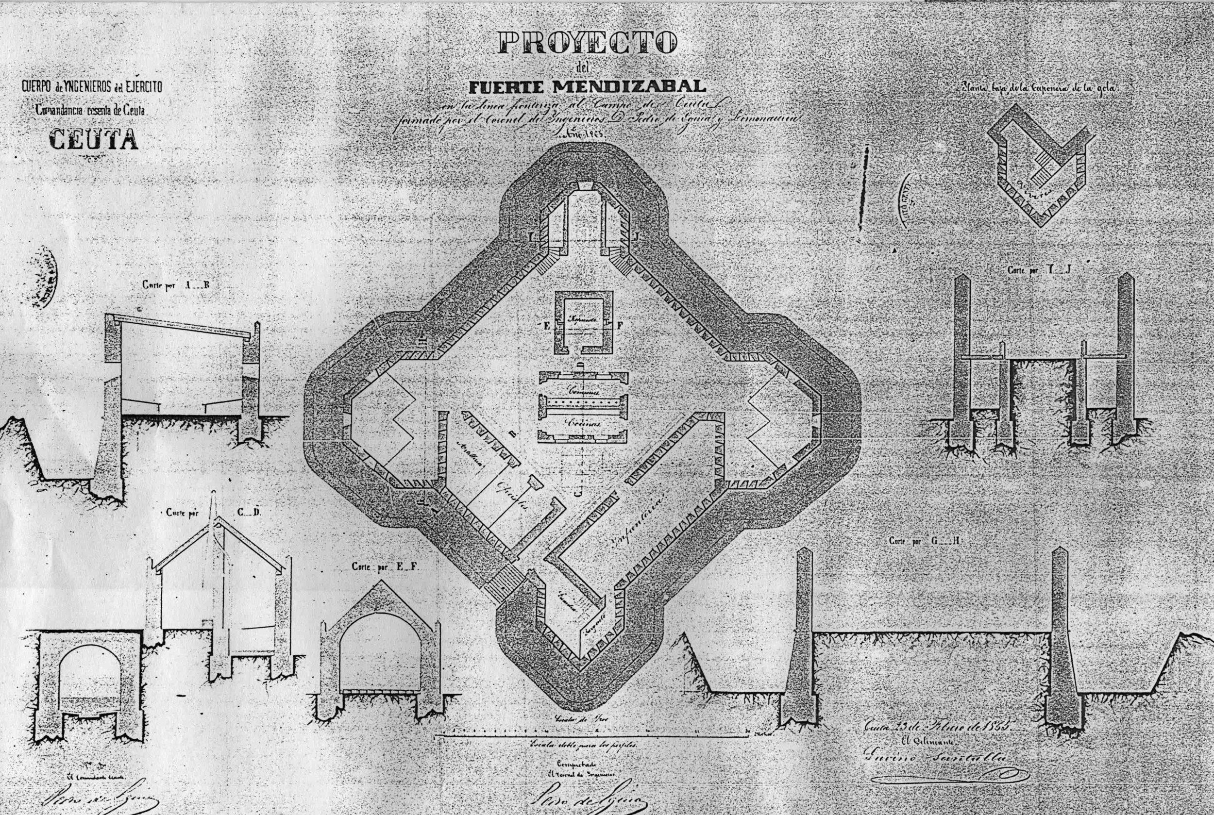 figura 21: proyecto de Mendizábal y Aranguren por Pedro de Eguía, 1865