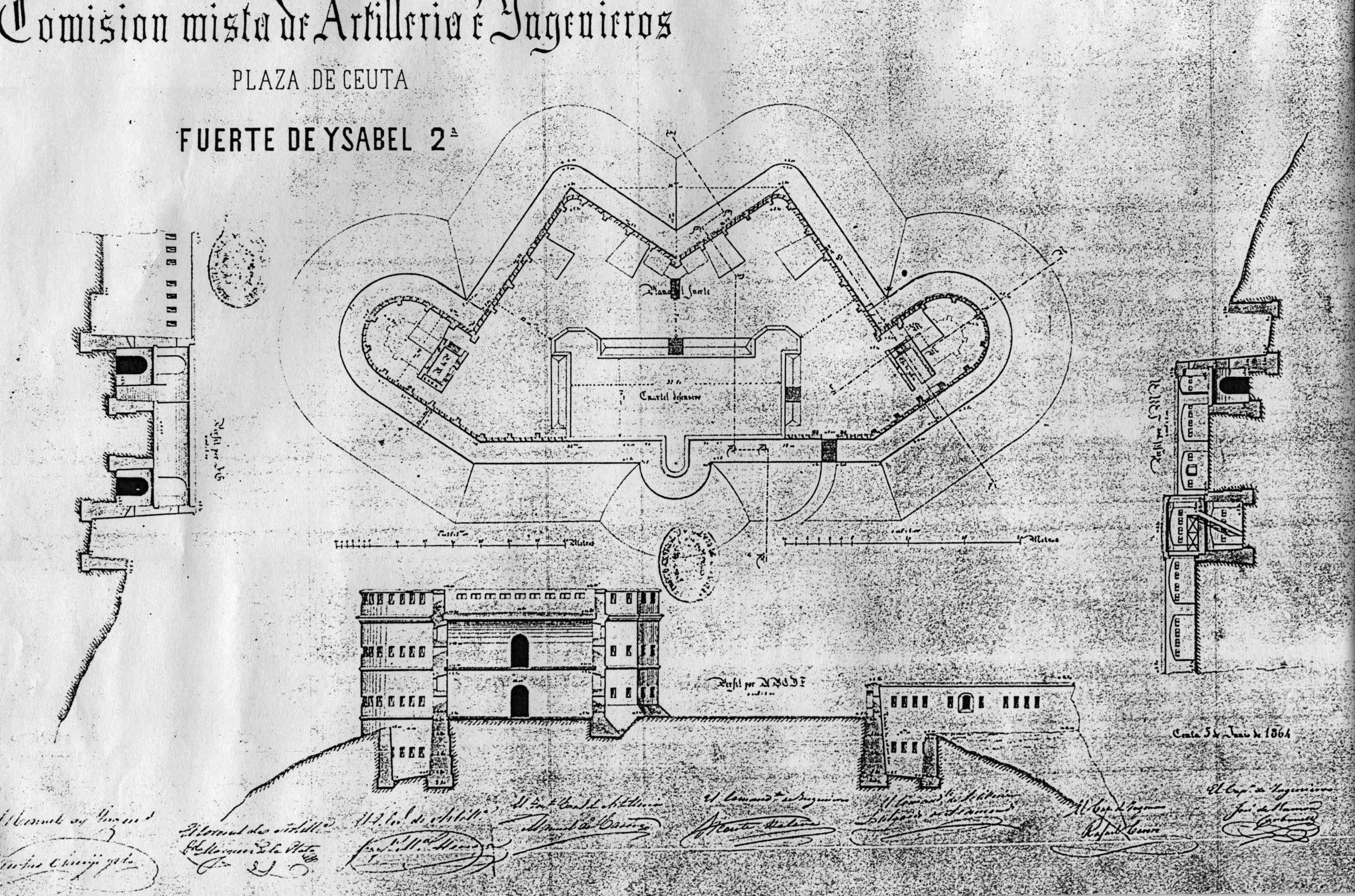 figura 9: proyecto de Isabel II par José de Ramón Carbonell, 1864