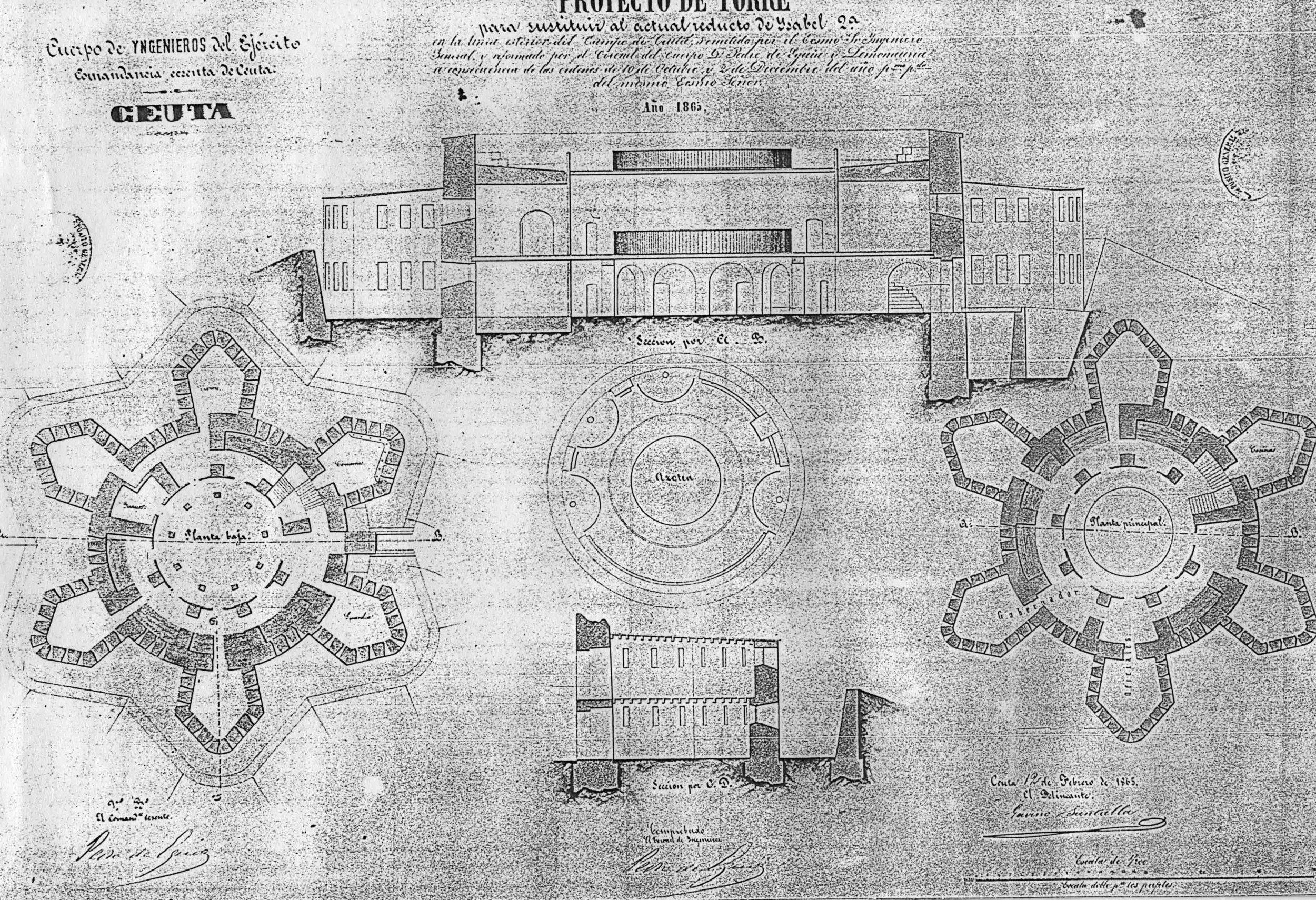 figura 11: proyecto de Isabel II por Pedro de Eguía, 1865