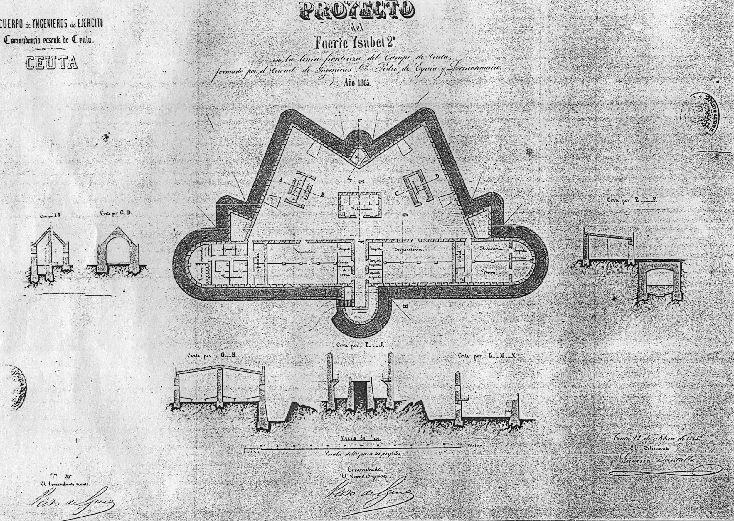 figura 10: proyecto de Isabel II por Pedro de Eguía, 1865