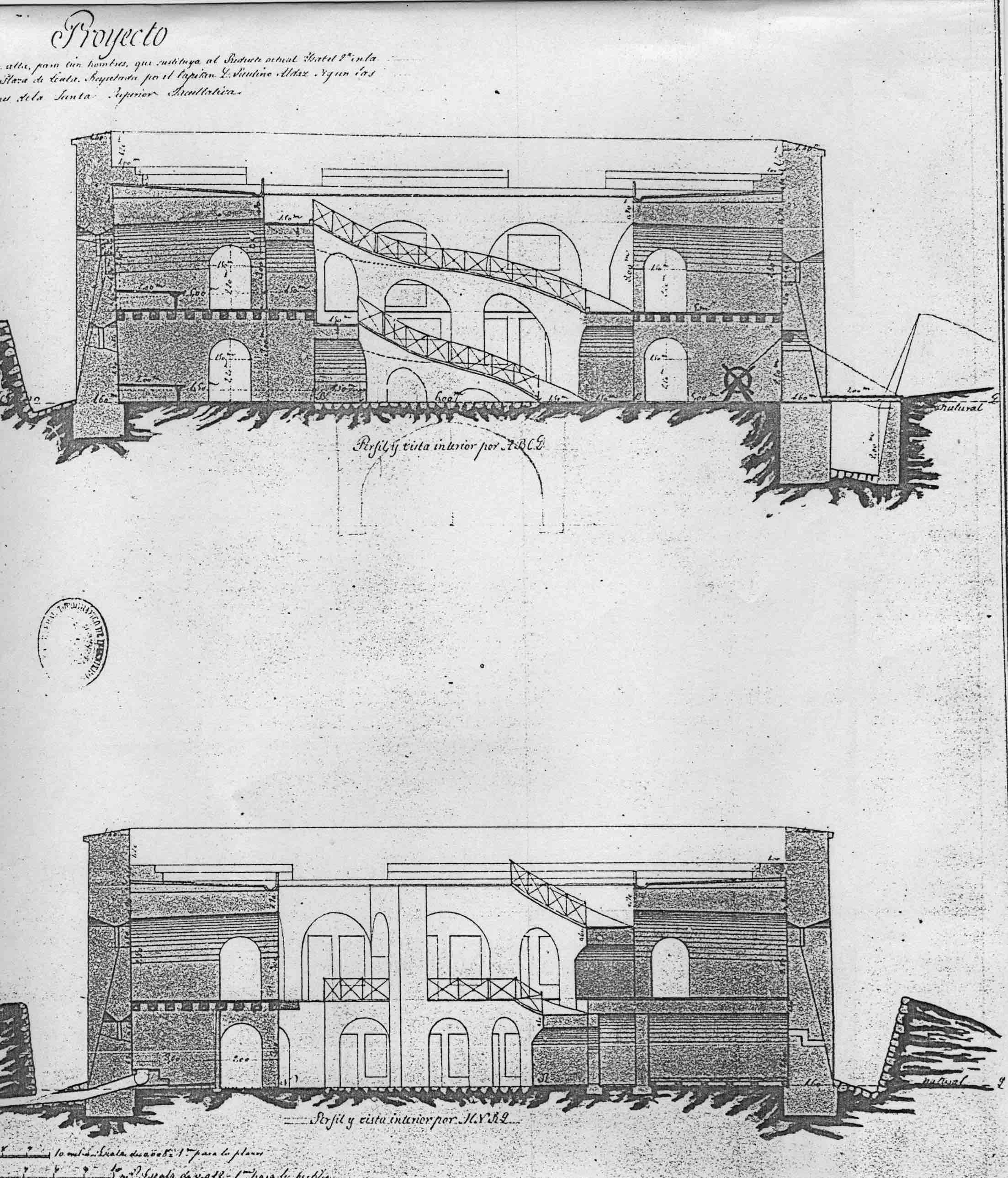 figura 8: proyecto de Isabel II por Paulino Aldaz, 1862