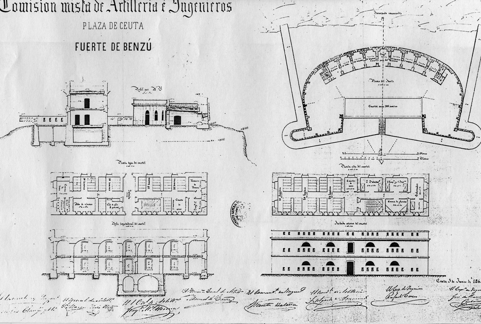 figura 25: proyecto de Benzú por José de Carbonell, 1864