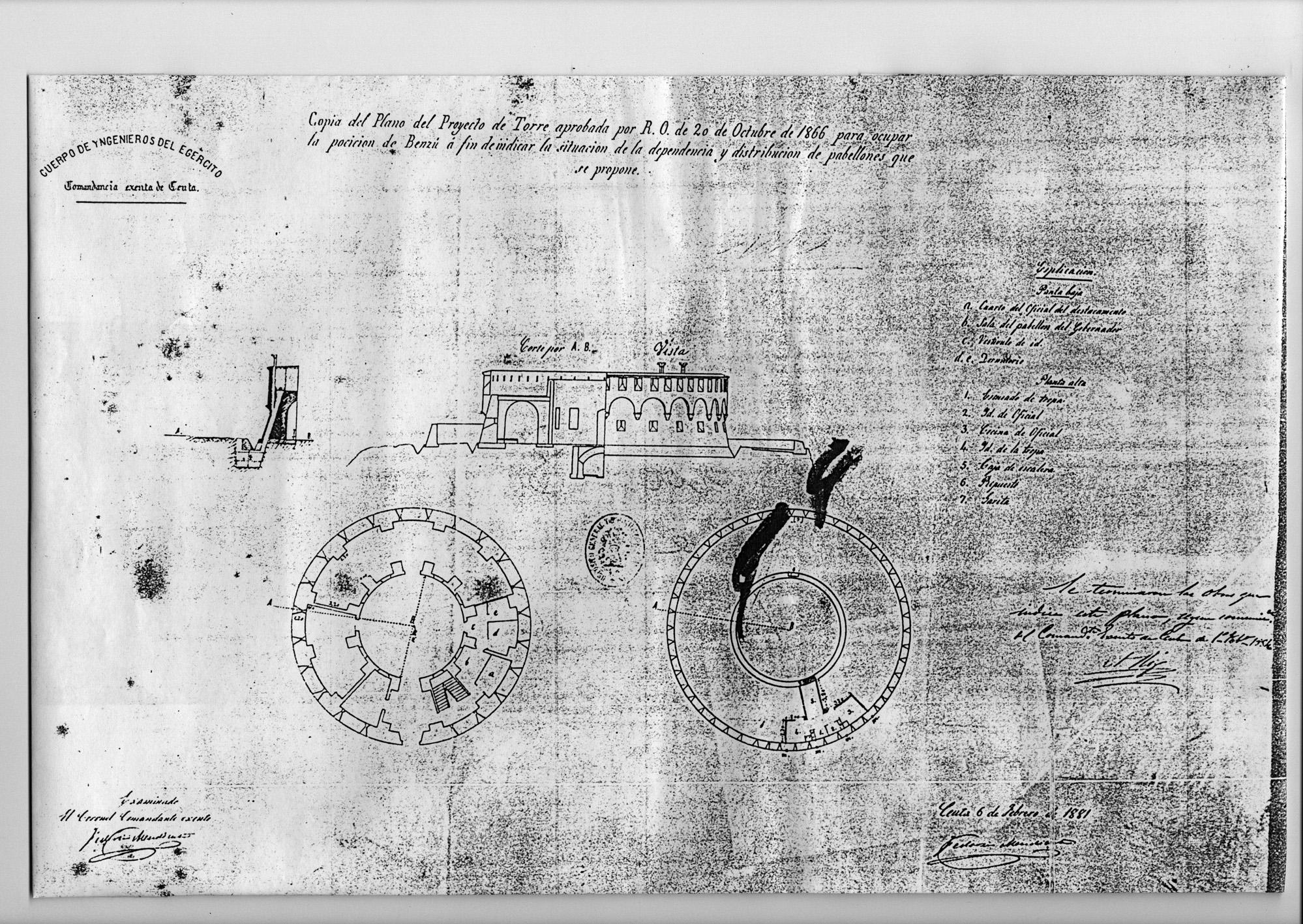 figura 29: proyecto de Benzú por Federico Mendicuti, 1881