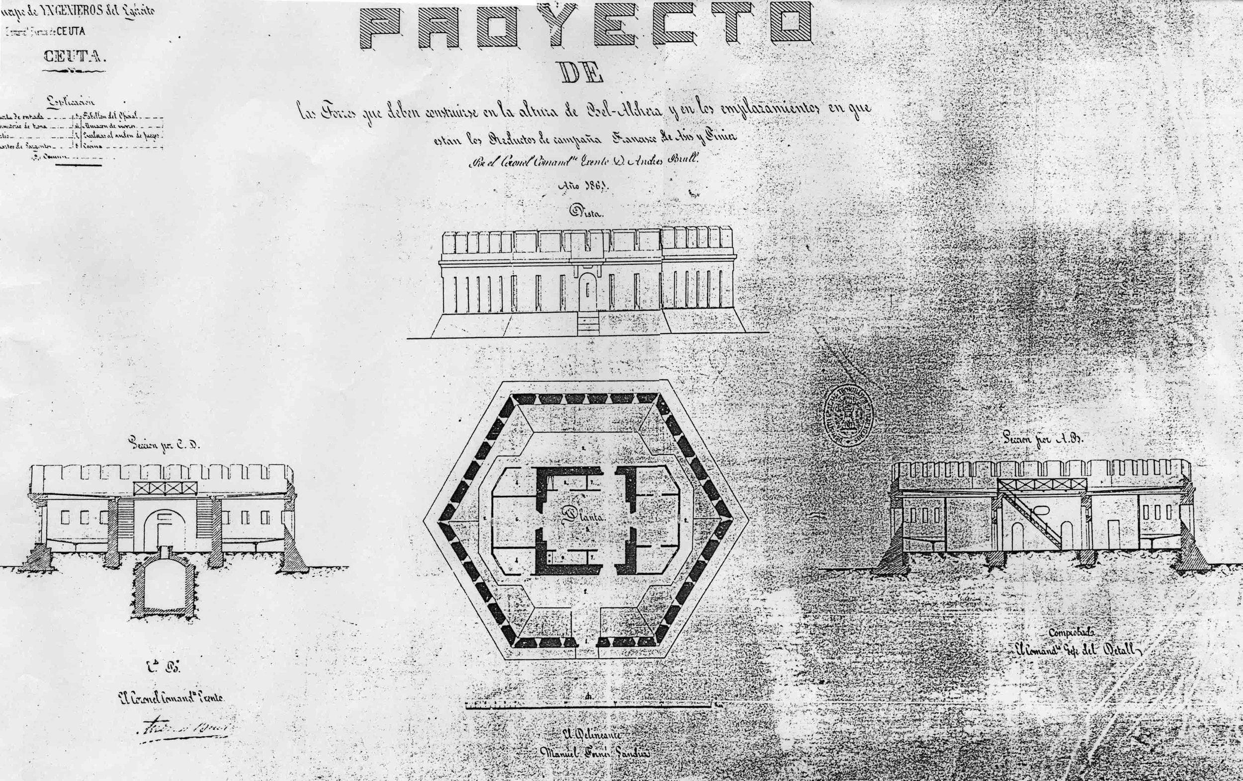 figura 15: proyecto de Piniers, Francisco de Asís y Anghera por Brull, 1861