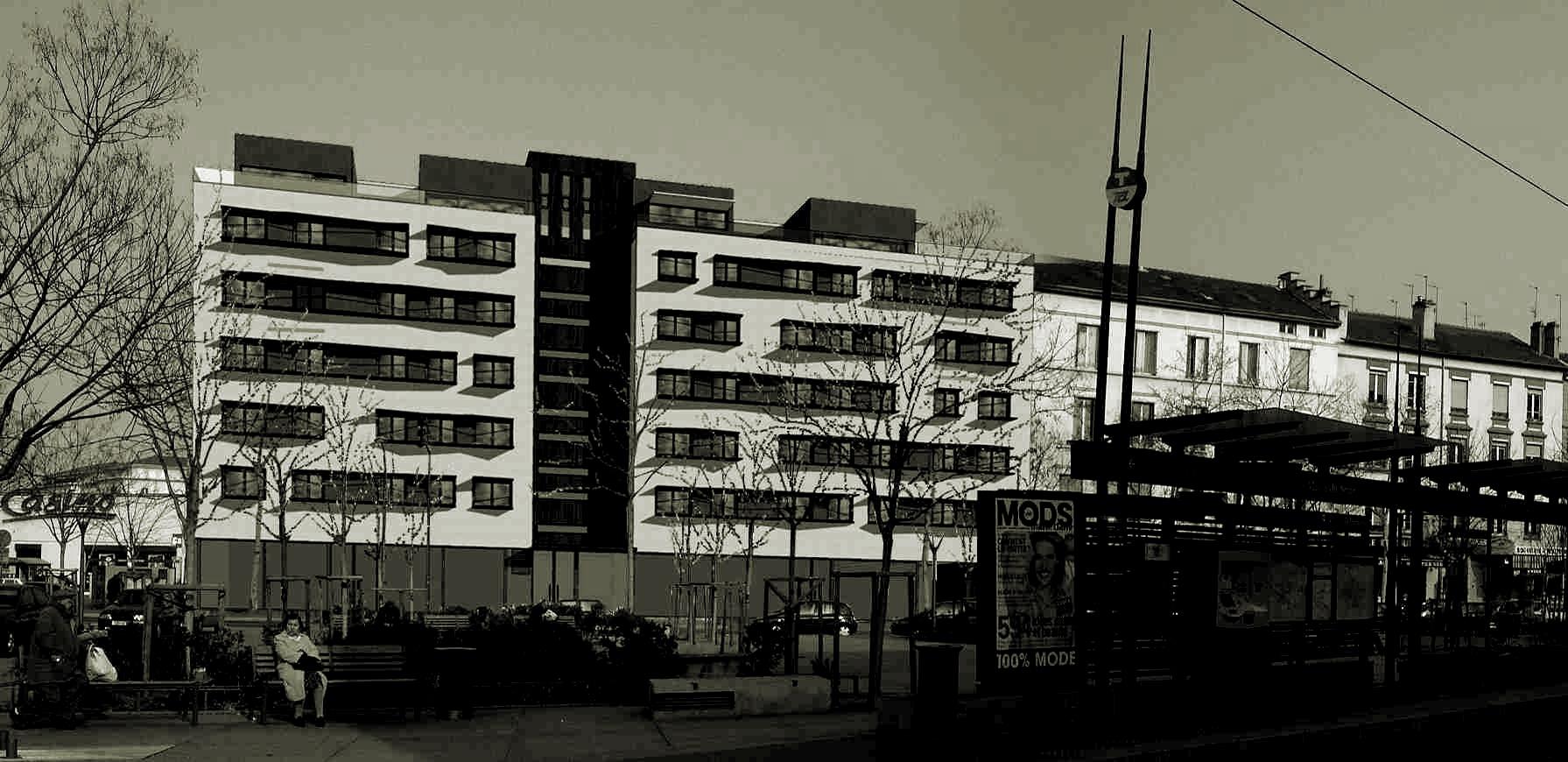 🅟 100 dwellings, Place 11 Novembre, Lyon (France) 2006