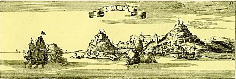 Ceuta en un grabado alemán de Georg Christoph Kilian del siglo XVIII.