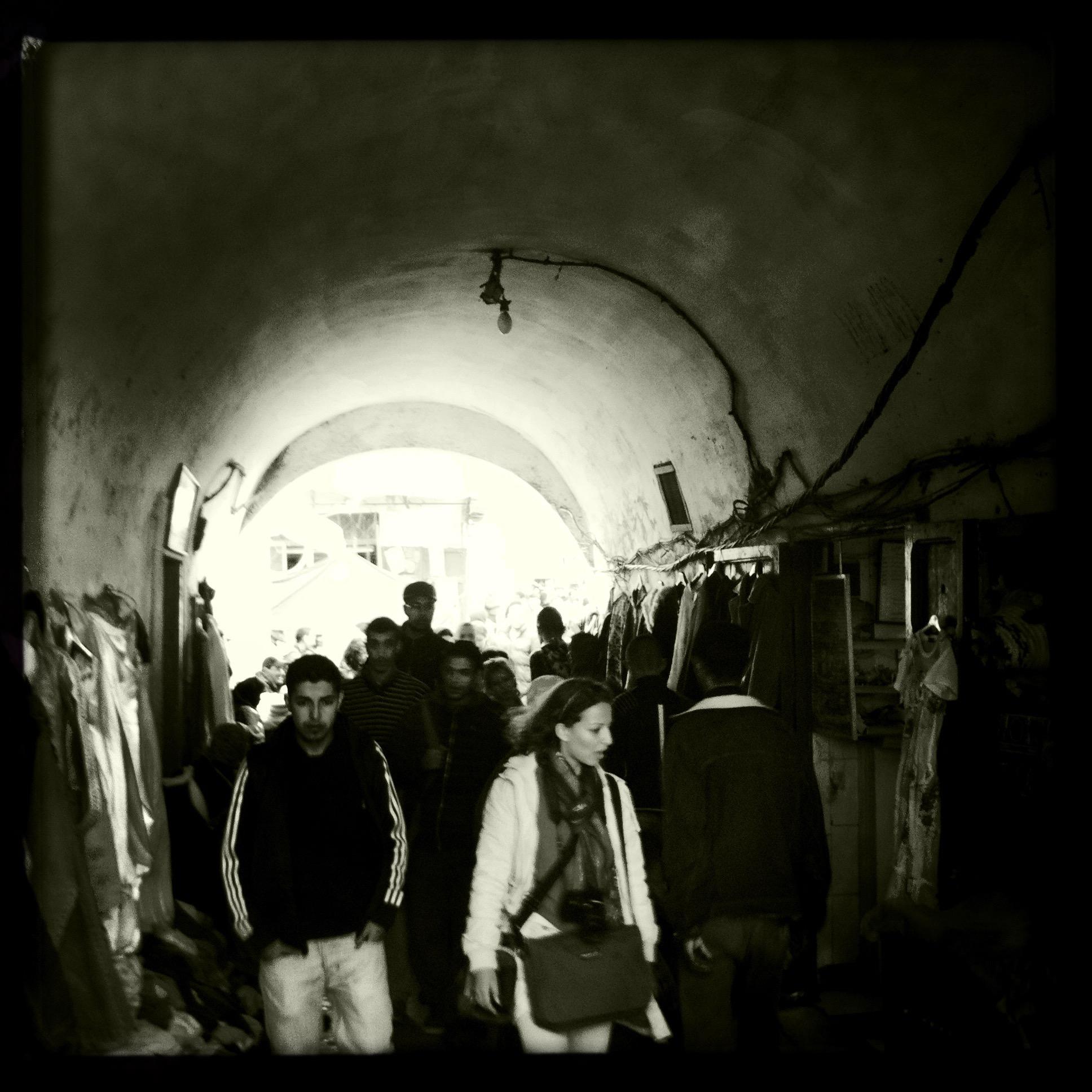 art and architecture students, medina of Tetouan