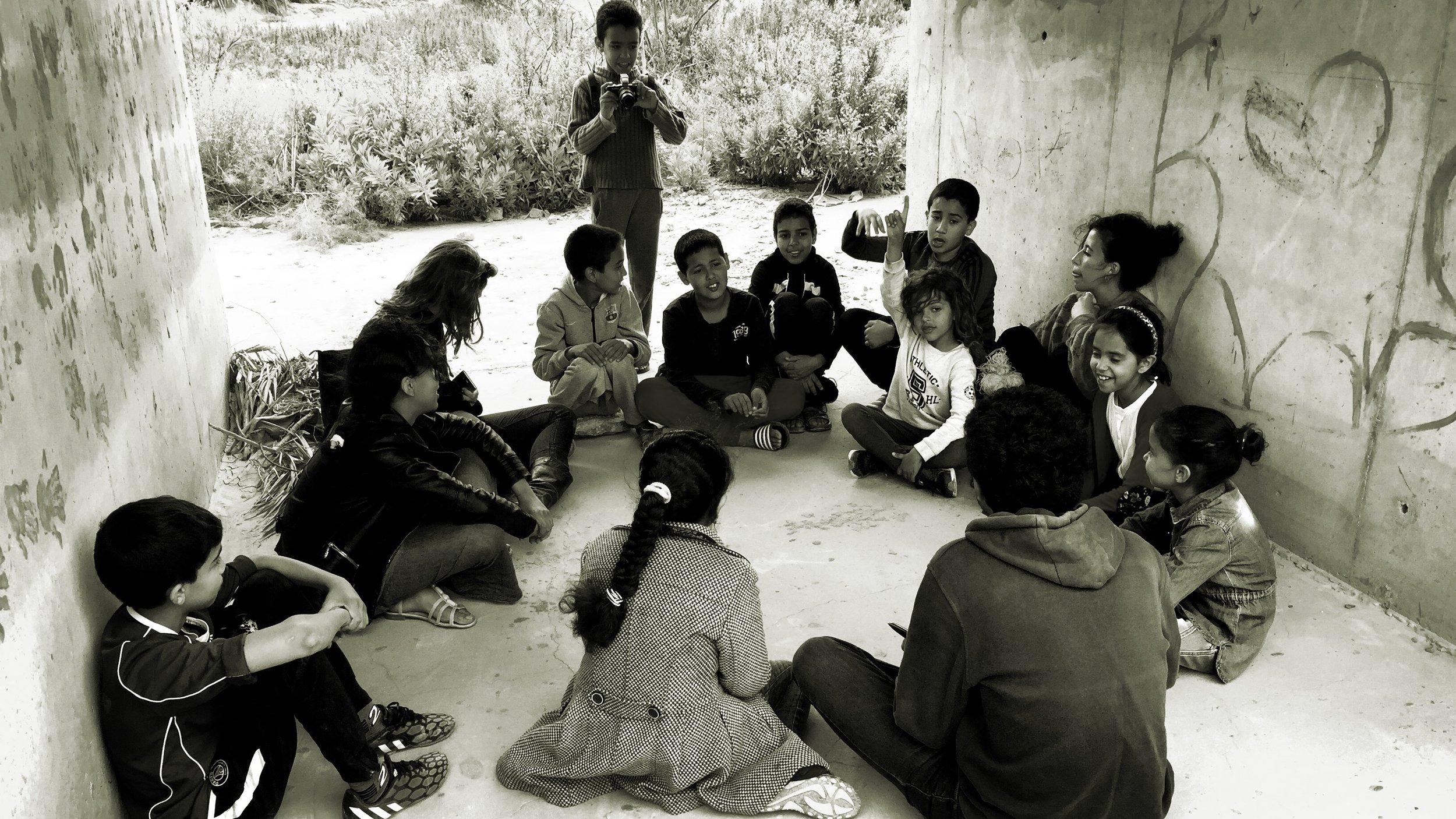 Omar during Nader-Masoero workshop in 2018