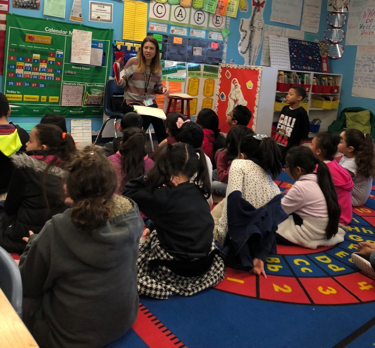 Emily Hayden-Granger teaching at Laurel Elementary