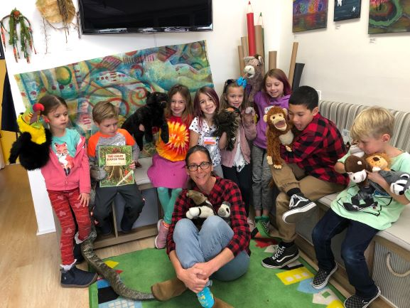 Art Instructor Corinna Stocker with previous Art Campers