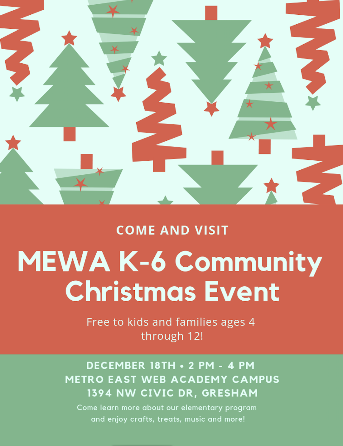 For more information, email us at info@mewebacademy.org
