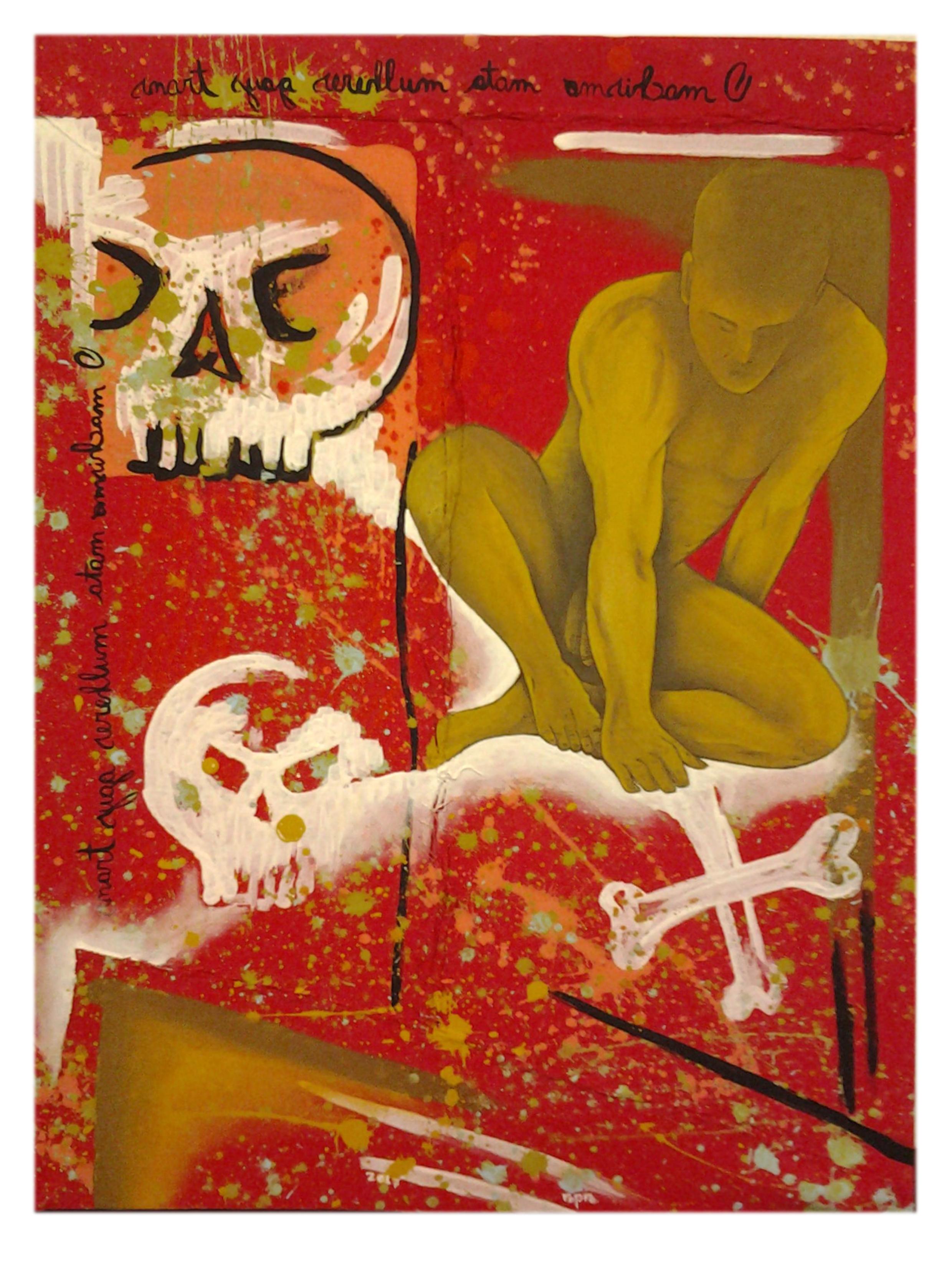 Ropre, No armário, 2017,pintura acrílica s algodão cru costurado s chapa MDF 0,6,46x34 cm
