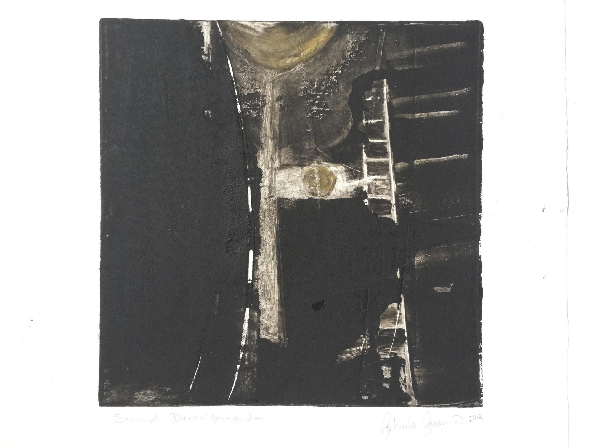 Gabriela Gusmão, Onda, 2012, série Segunda Deposição, monotipia, 36 x 32 cm