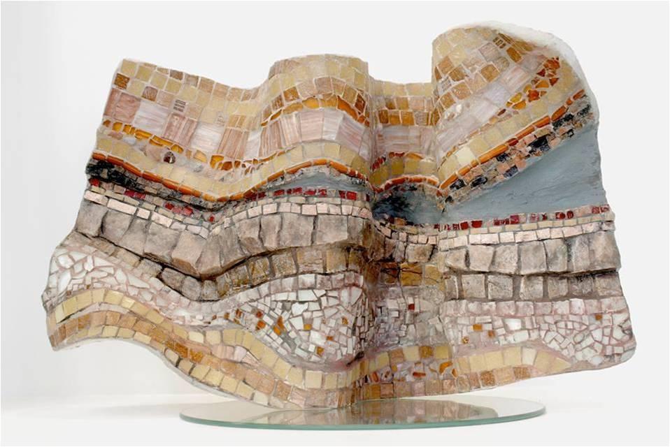 Moema Branquinho, Paisagem em Movimento, mosaico, 2014