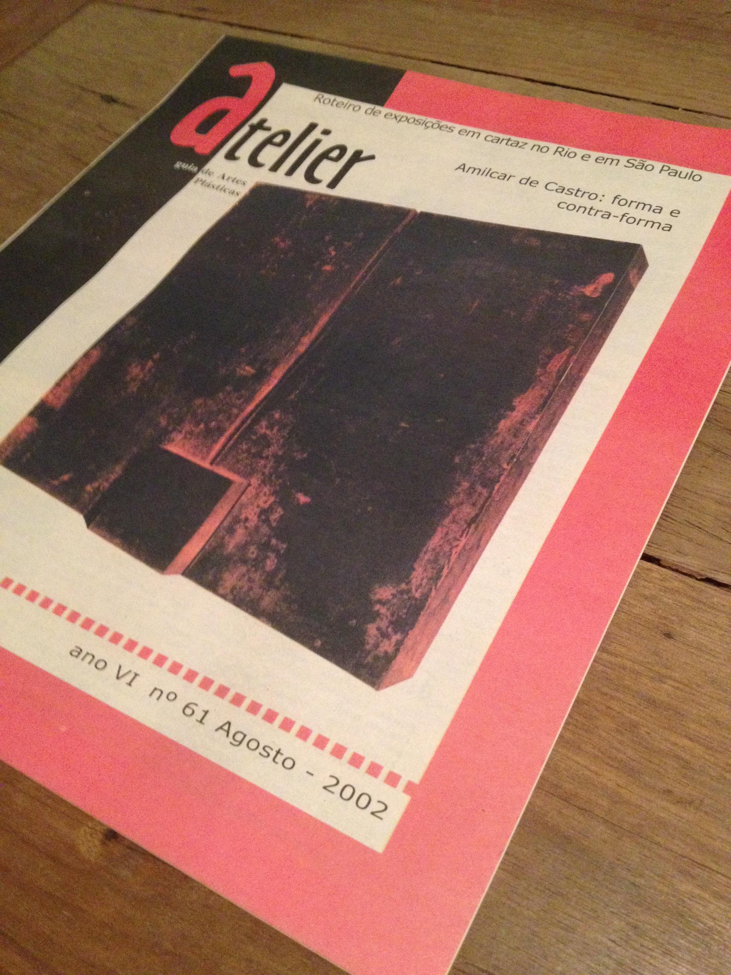 Na edição 61, o Atelier publicou entrevista exclusiva com Amilcar de Castro