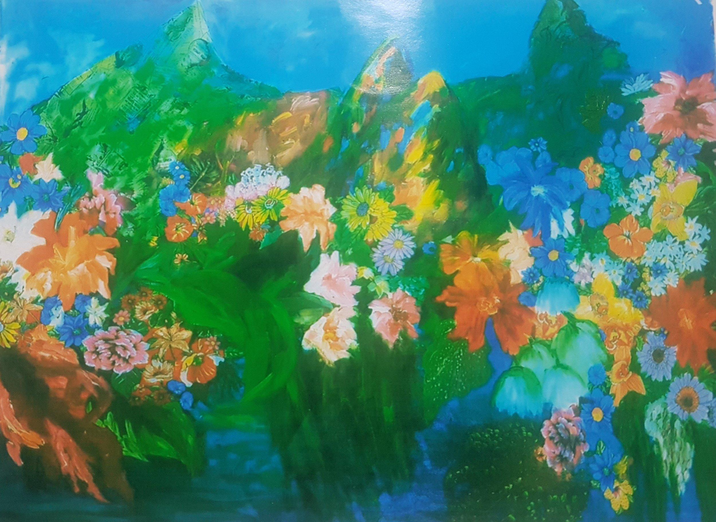 Dirce Fett, Aporia, acrílica s/tela, 120 x 200 cm