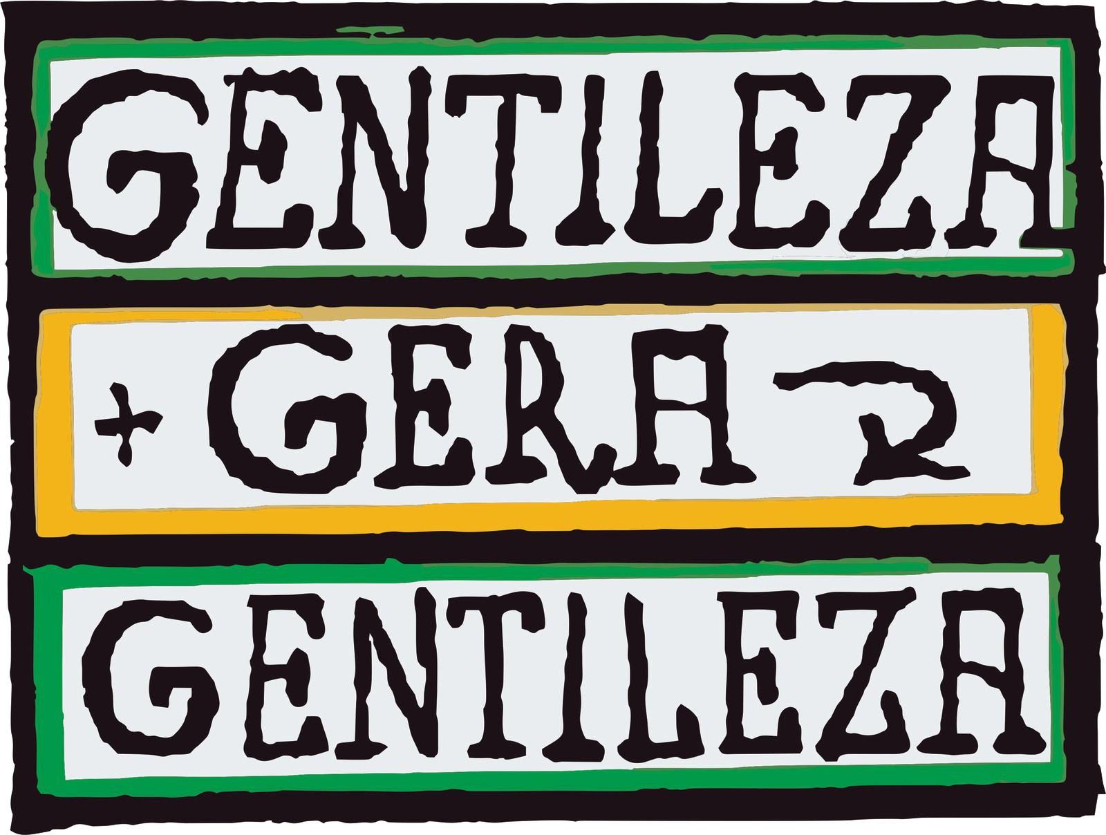 A frase com as letras e cores criadas por Gentileza tornou-se popularmente conhecida