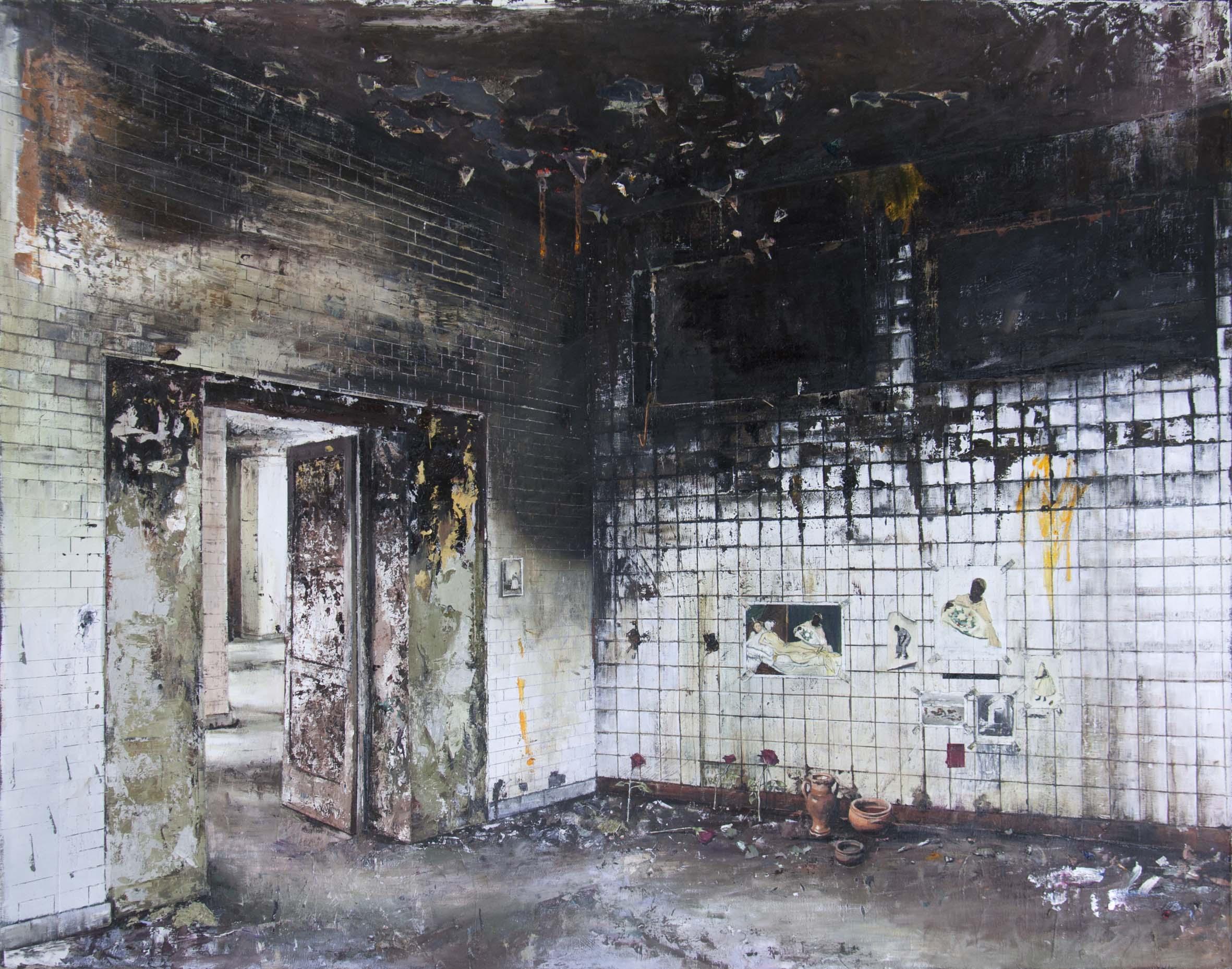 André Griffo, Back To Olympia, 2016, óleo sobre tela