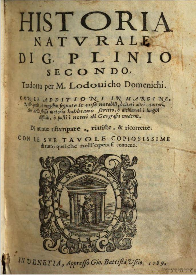 Caio Plinio descreveu inúmero detalhes da África,uma sobrevivente aos ataques destruidores