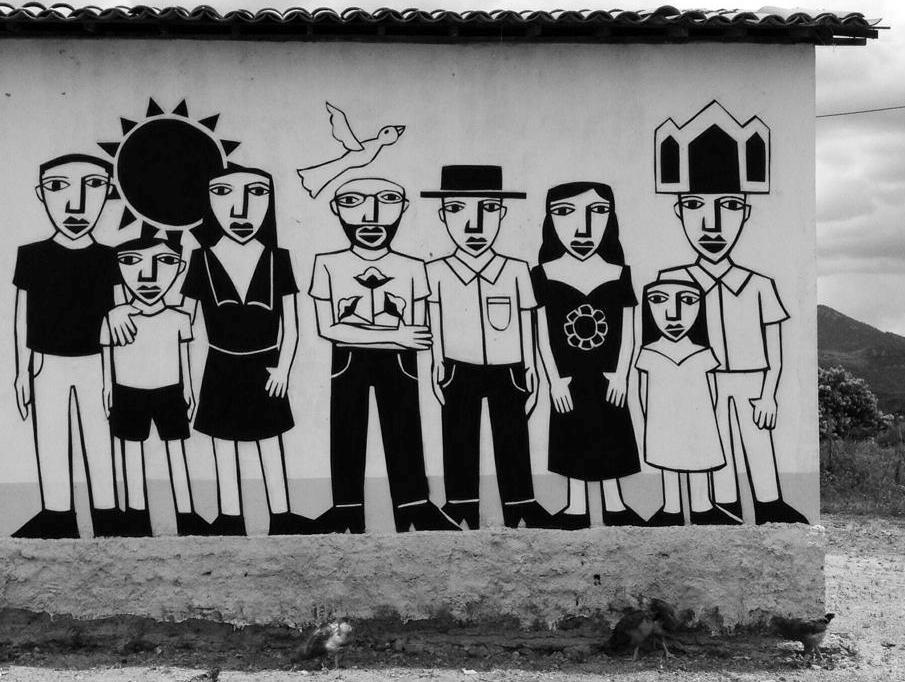 Derlon pintou casas de 72 famílias no Sertão do Ceará e depois mostrou em individual no Rio
