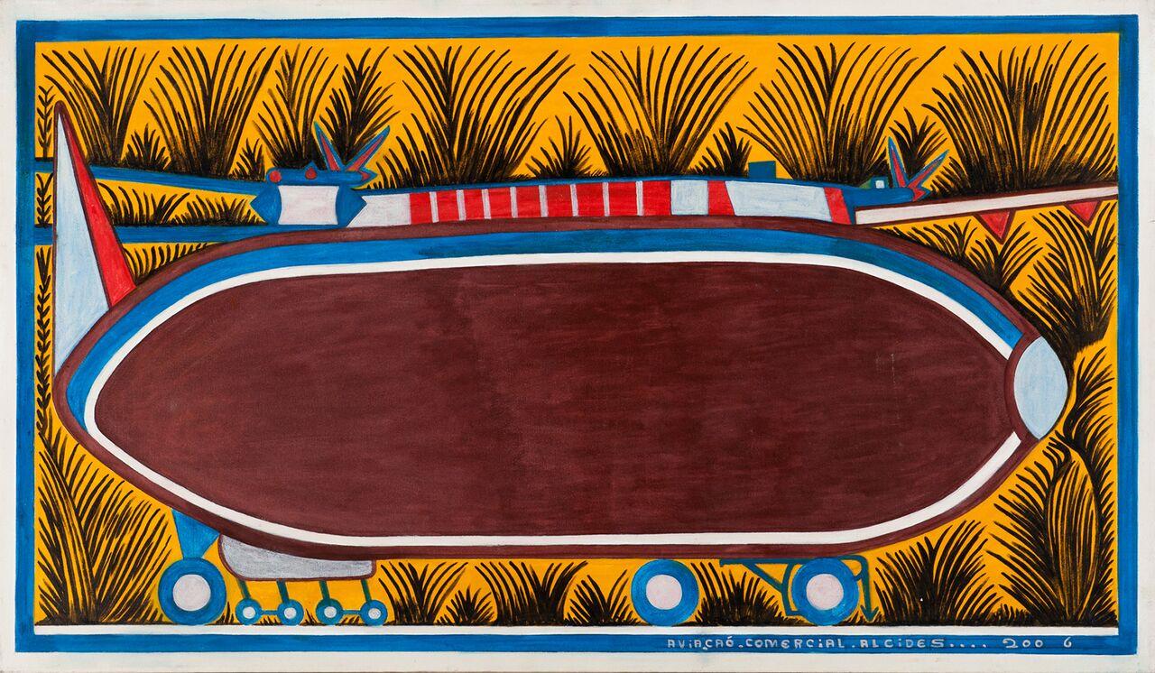 Alcides Pereira dos Santos, Aviação Comercial, 2006, acrílica sobre tela, 87 x 153 cm