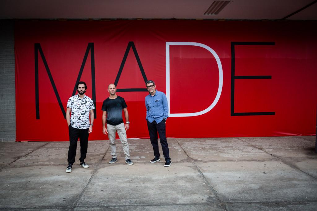 Os sócios da MADE Bruno Simões, Elcio Gozzo e Waldick Jatobá Foto: Massimo Failutti/MADE