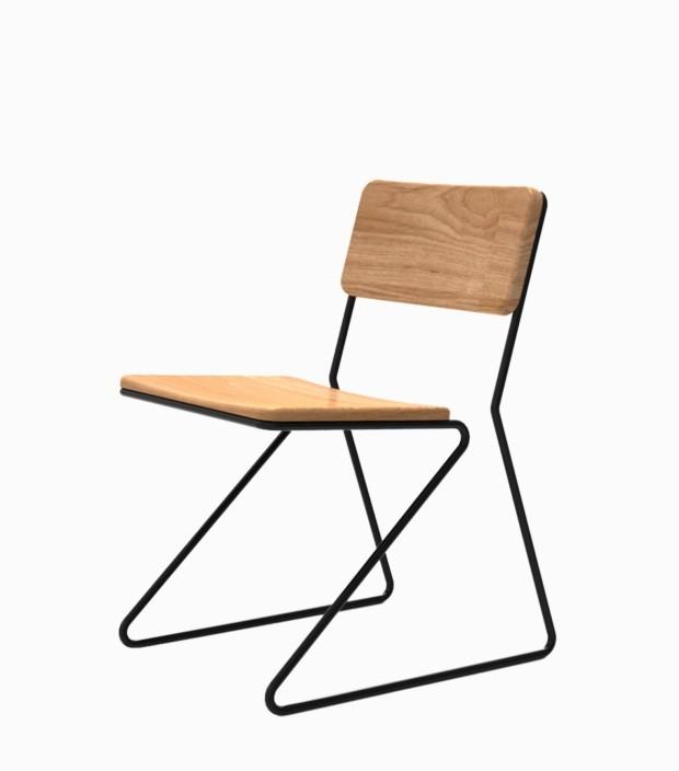 Gabriel Mota, cadeira Mola, aposta na ergonomia, uma linha percorre o móvel -Coletivo 462