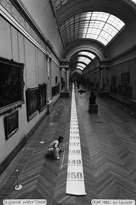 """Maior do mundo da Copy-Art: """"O grande medidor"""", 1980, 144m x 0,60m, de Céjar"""