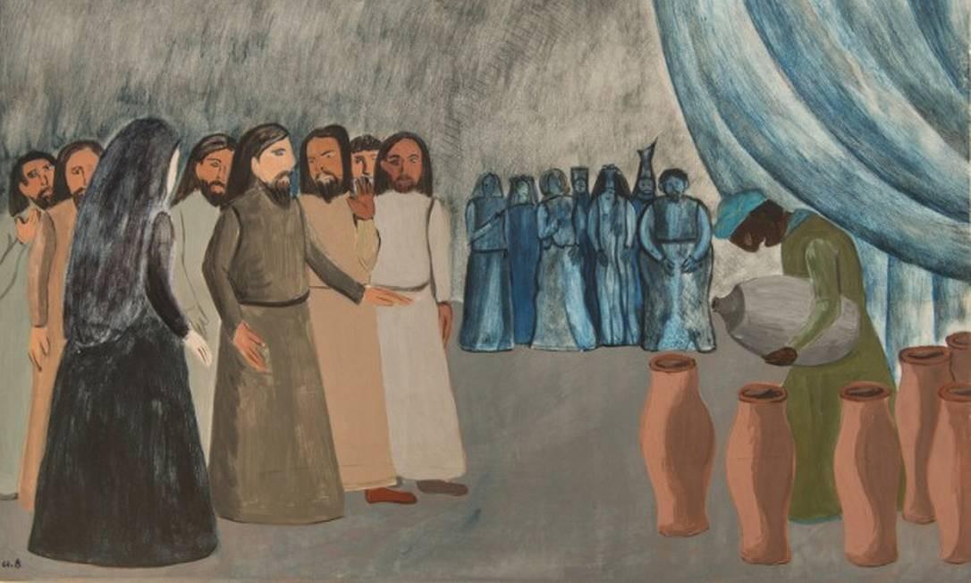 """Athos Bulcão, """"A vida de Nossa Senhora"""", pintura na Catedral de Brasília"""