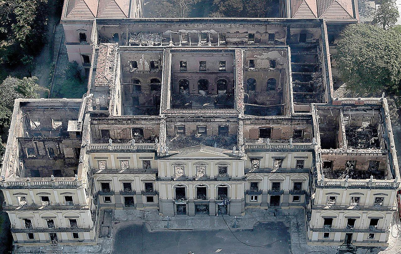 O Museu Nacional perdeu pelo menos 90% do seu acervo, cerca de 20 milhões de peças