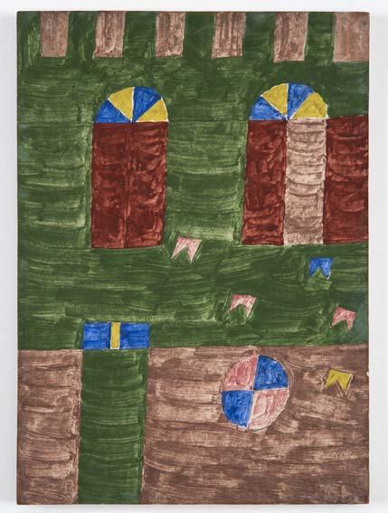 Alfredo Volpi, Fachada, têmpera sobre cartão, 33 x 24 cm