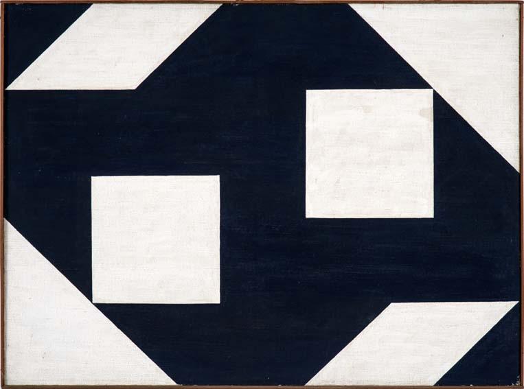 Alfredo Volpi, Concretos, têmpera sobre tela, 54 x 73 cm