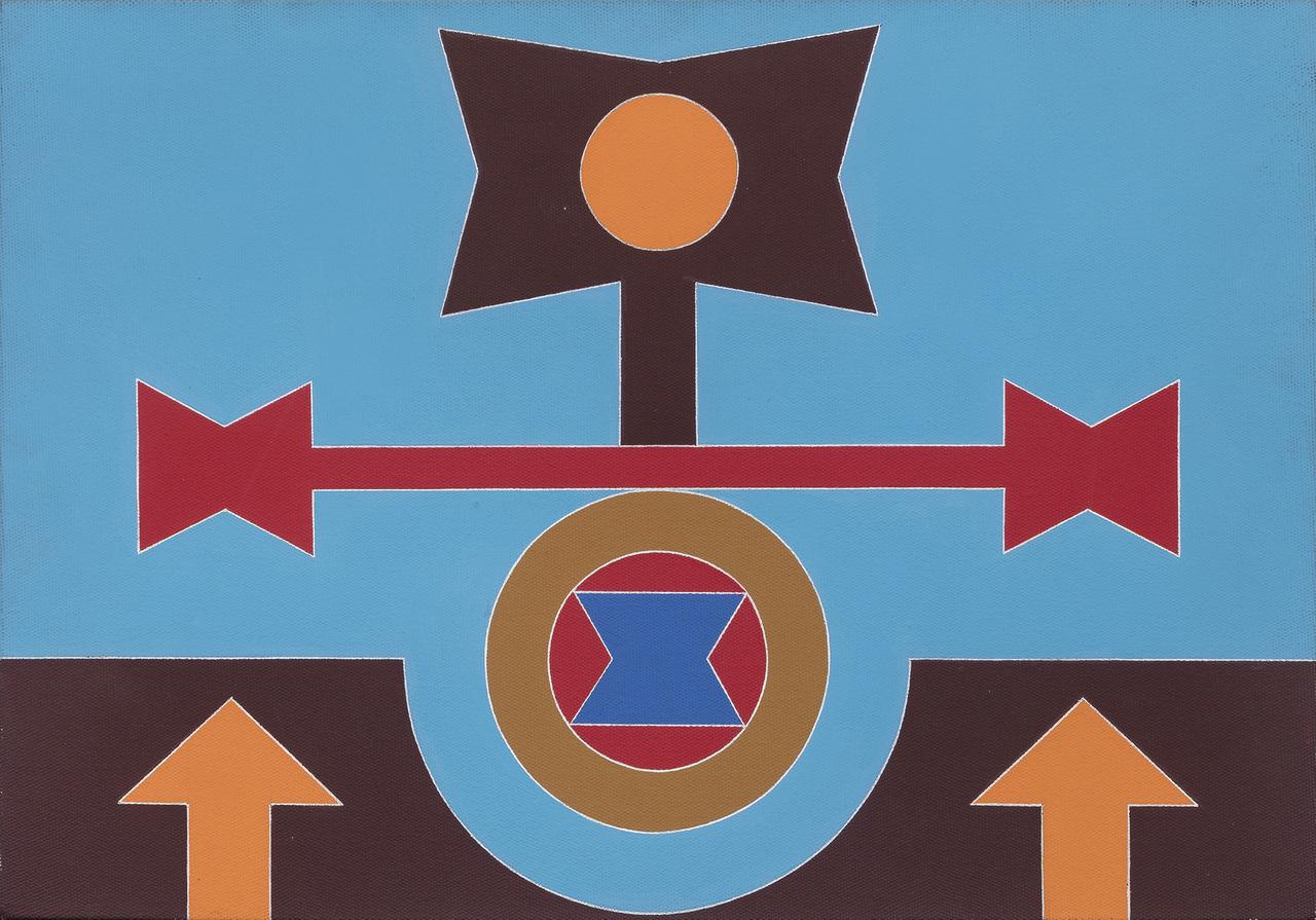 Rubem Valentim, Variação 1, 1987, acrílica sobre tela