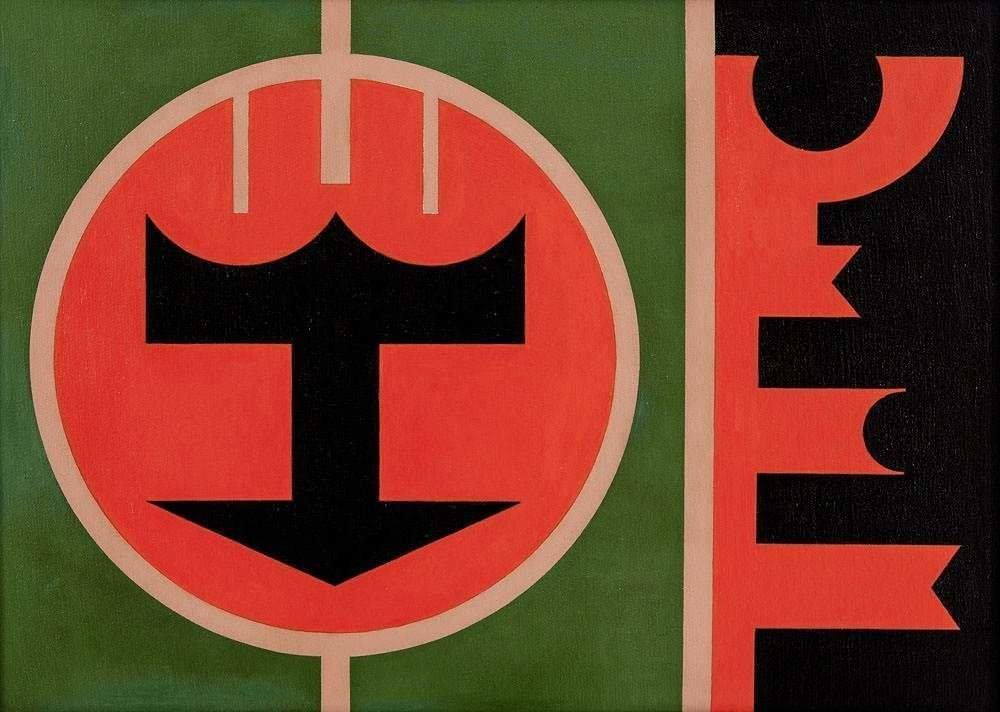 Rubem Valentim, série  Emblema , 1979, acrílico sobre tela