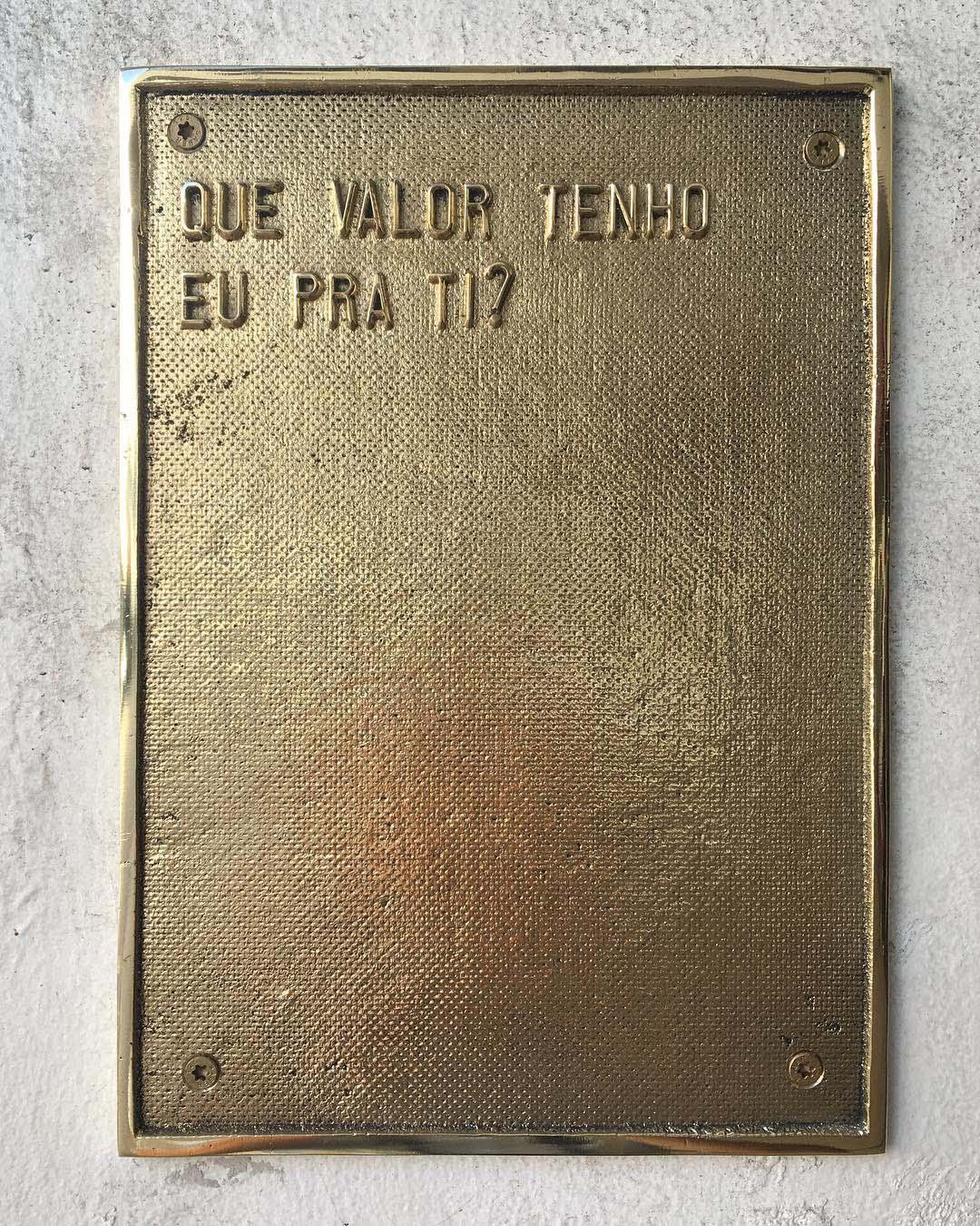 Ivan Grilo, Que valor tenho eu pra ti?, 2018, fundição em bronze
