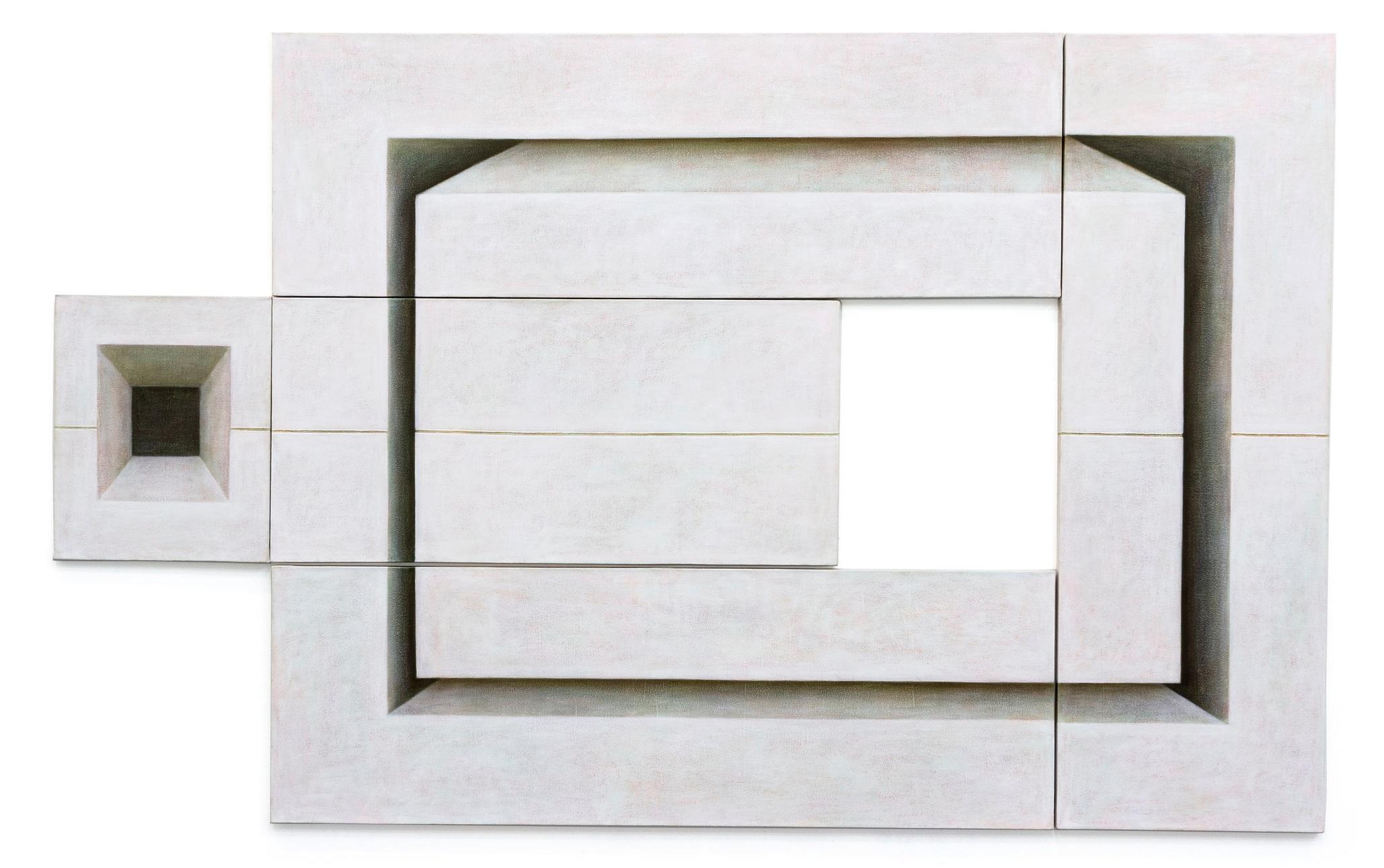 Adriana Maciel, Deslocamento - 5 partes, 2010-2011, acrílica sobre tela