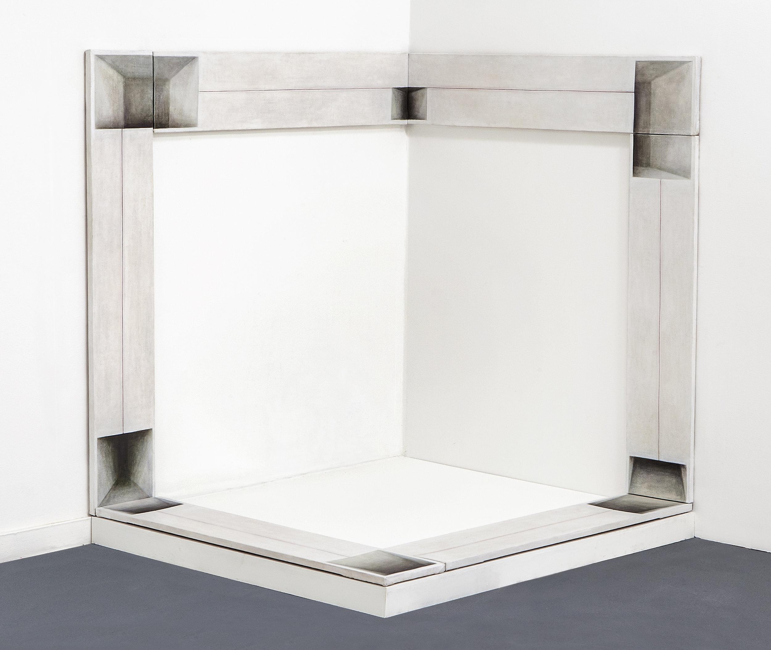 Adriana Maciel, Terrítório 01, 2006, políptico seis partes, 180 x 178 x 153 cm