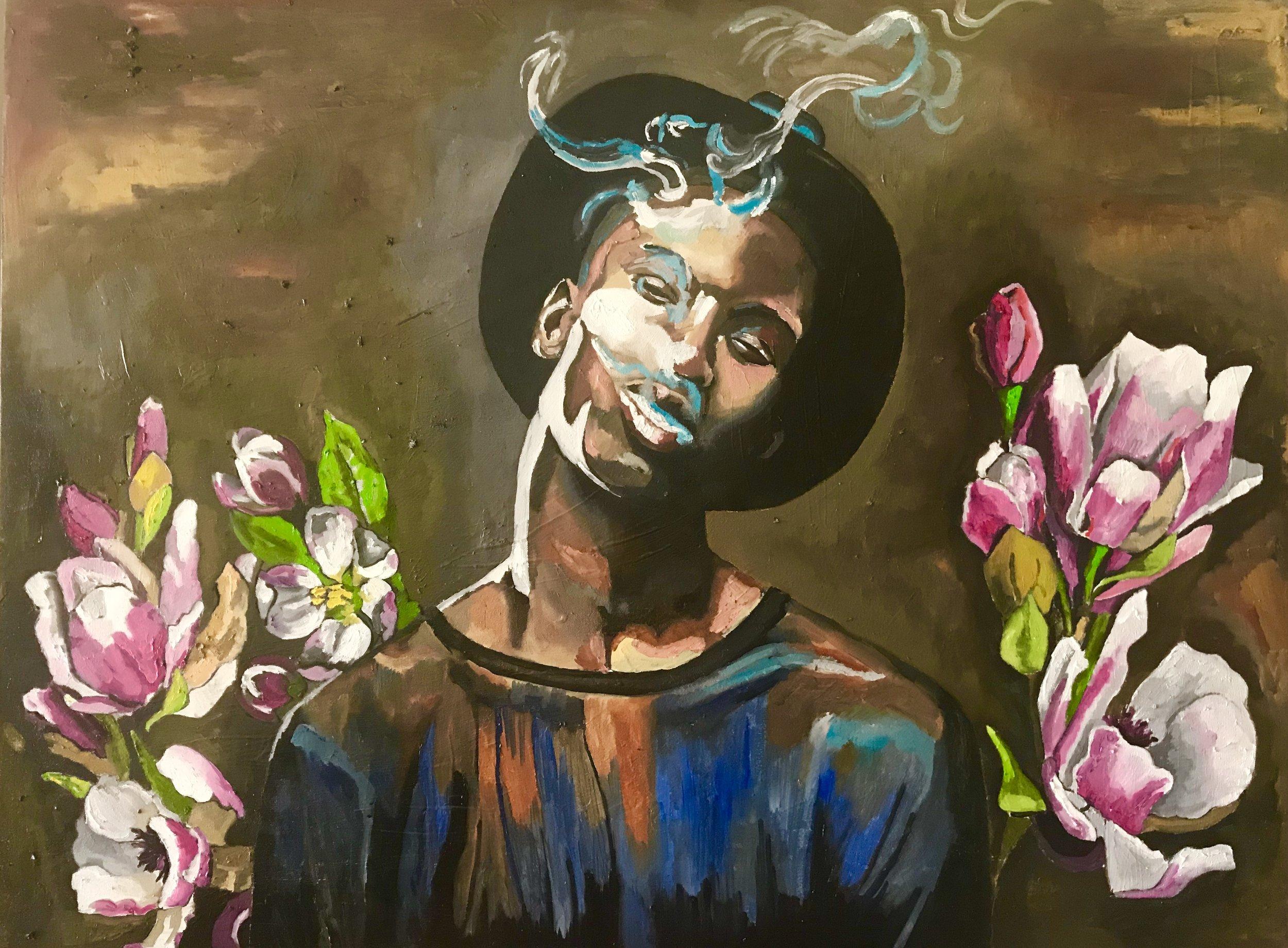 Georgia Lobo, Doidão, 2018, óleo sobre tela, 1,20 x 0,90