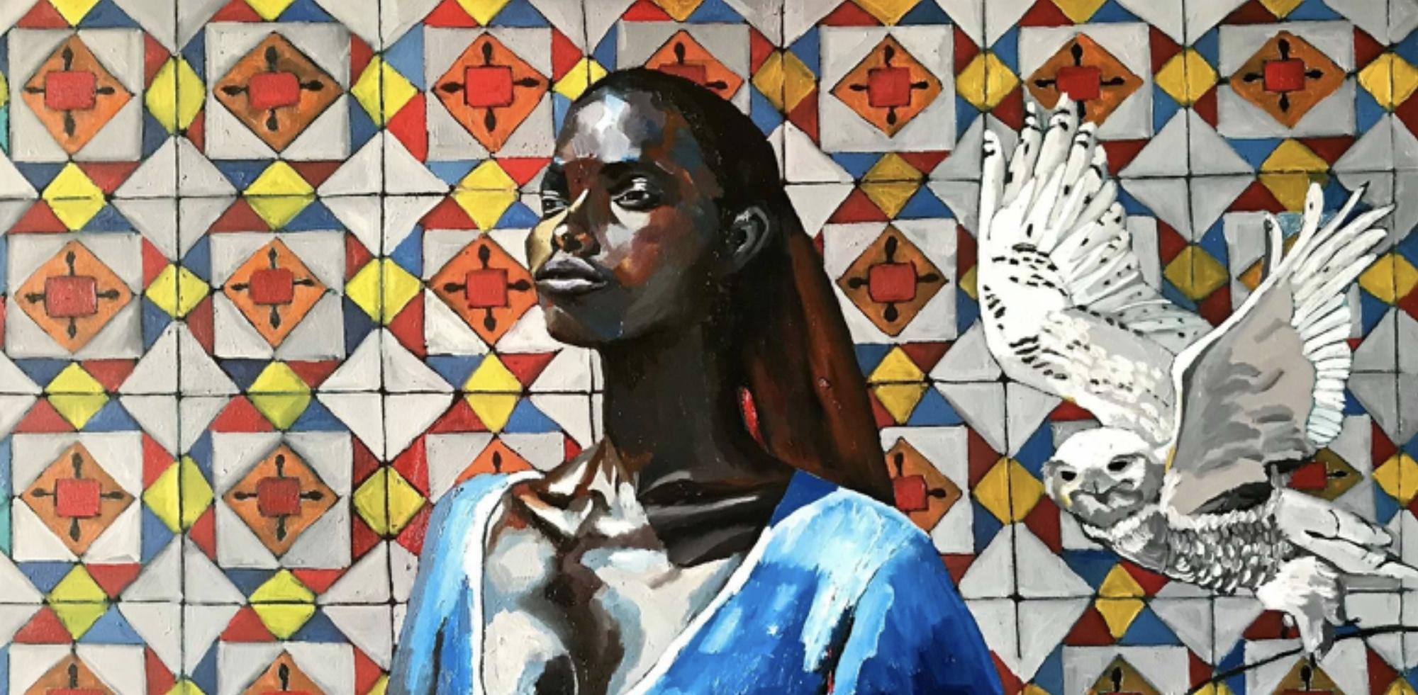 Georgia Lobo, Fly, 2017, óleo sobre tela, 1,20 x 0,60