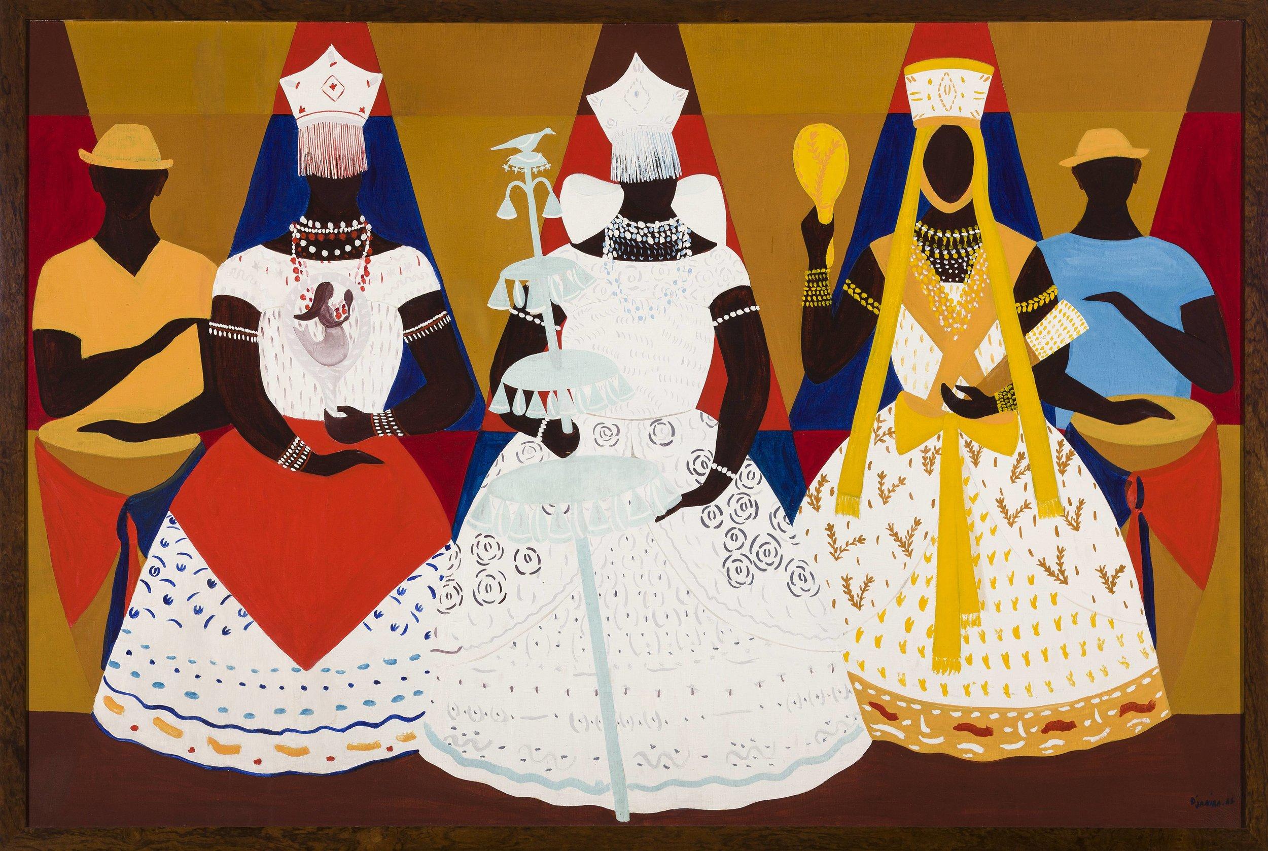 Djanira, Três orixás, 1966, óleo sobre tela, 130 x 195,5 cm / Foto: Isabella Matheus