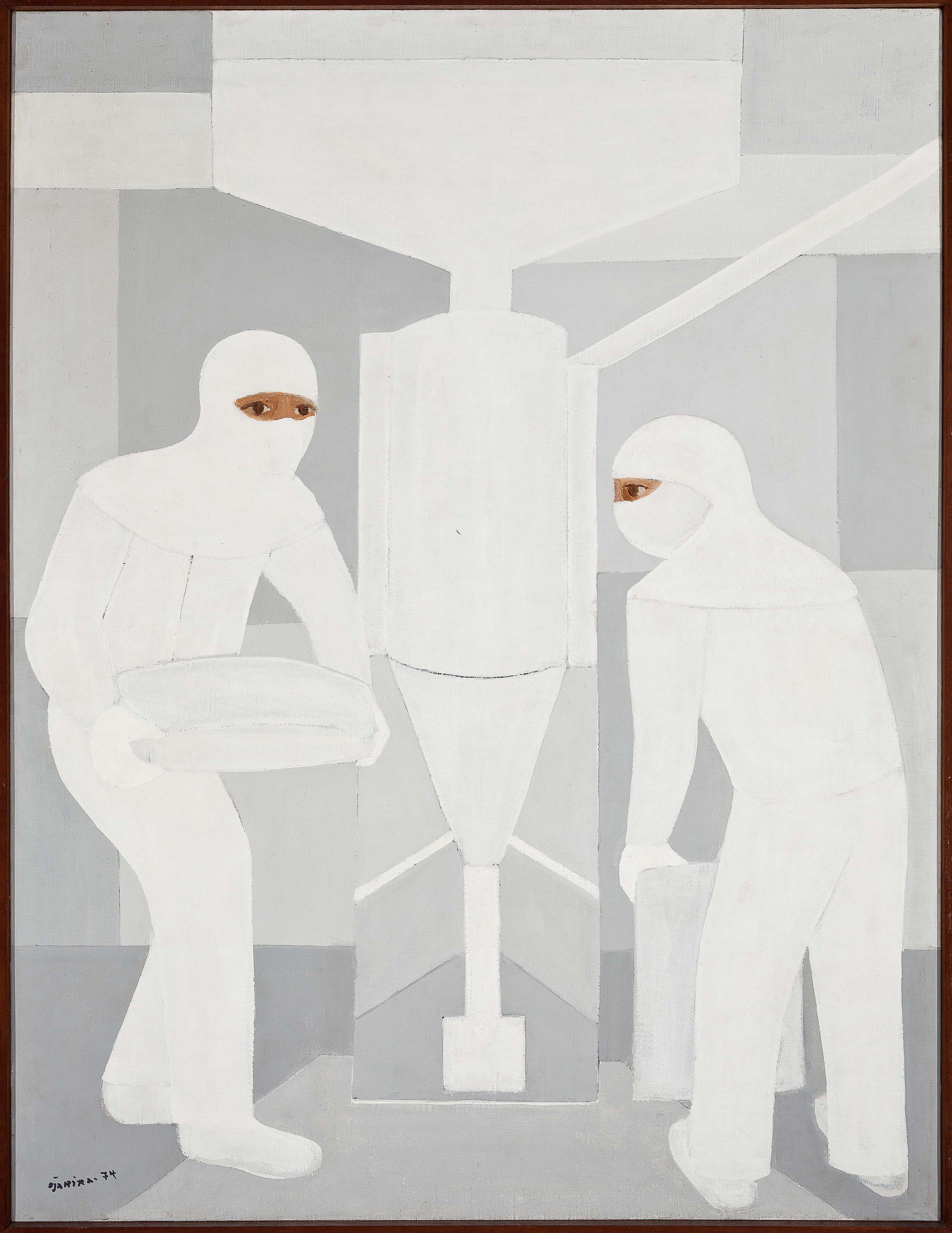 Djanira, Trabalhadores de Cal, 1974, óleo sobre tela, 90 x 116 cm / Foto: Jaime Acioli