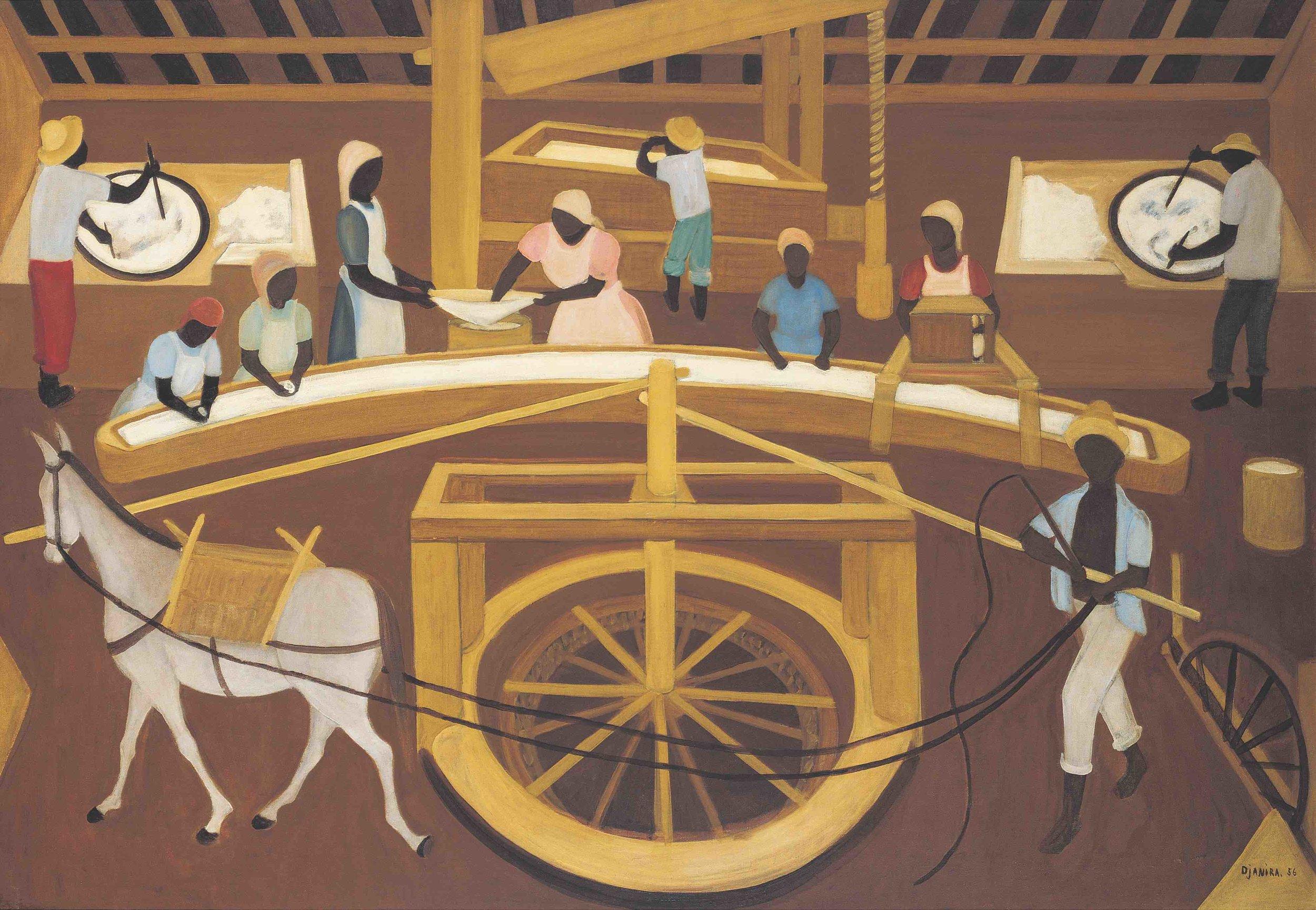 Djanira, Casa de farinha, 1956, óleo sobre tela, 90 x 132 cm / Foto: Pedro Oswaldo Cruz