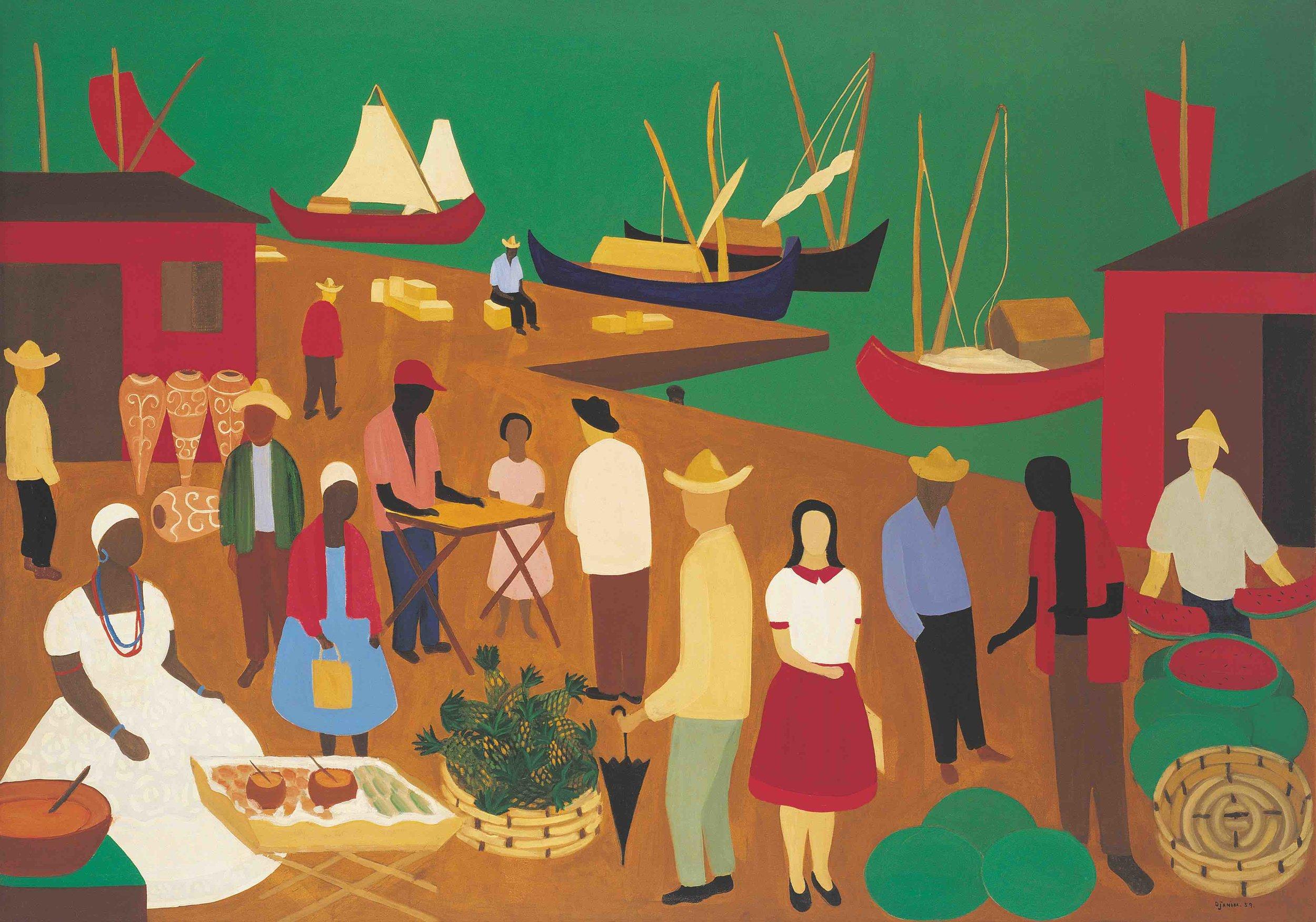 Djanira, Mercado da Bahia, 1959, óleo sobre tela, 114,5 x 162 cm/Foto: Pedro Oswaldo Cruz