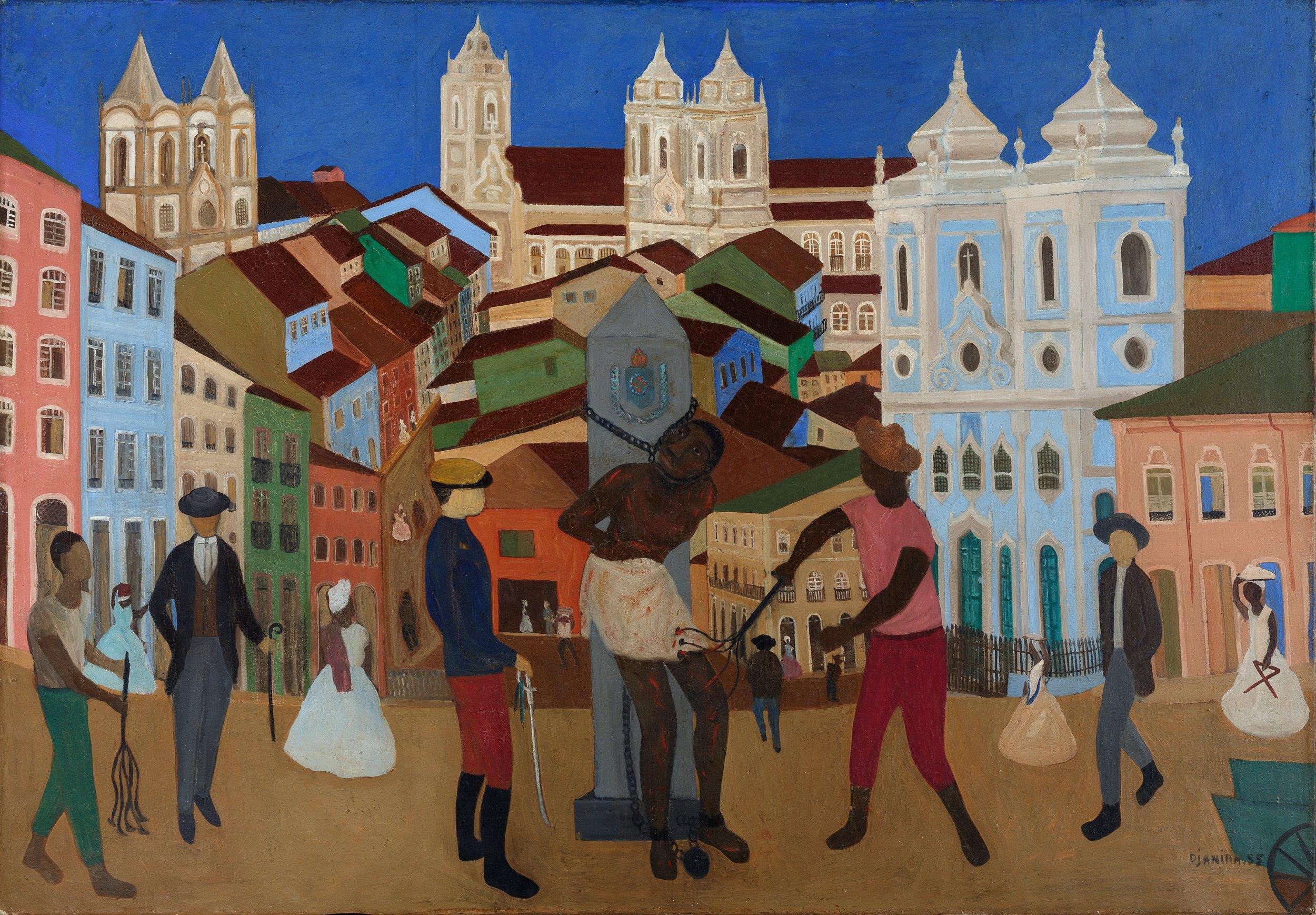Djanira, Largo do Pelourinho, Salvador, 1955, óleo sobre tela, 81 x 115 cm / Foto: Jaime Acioli