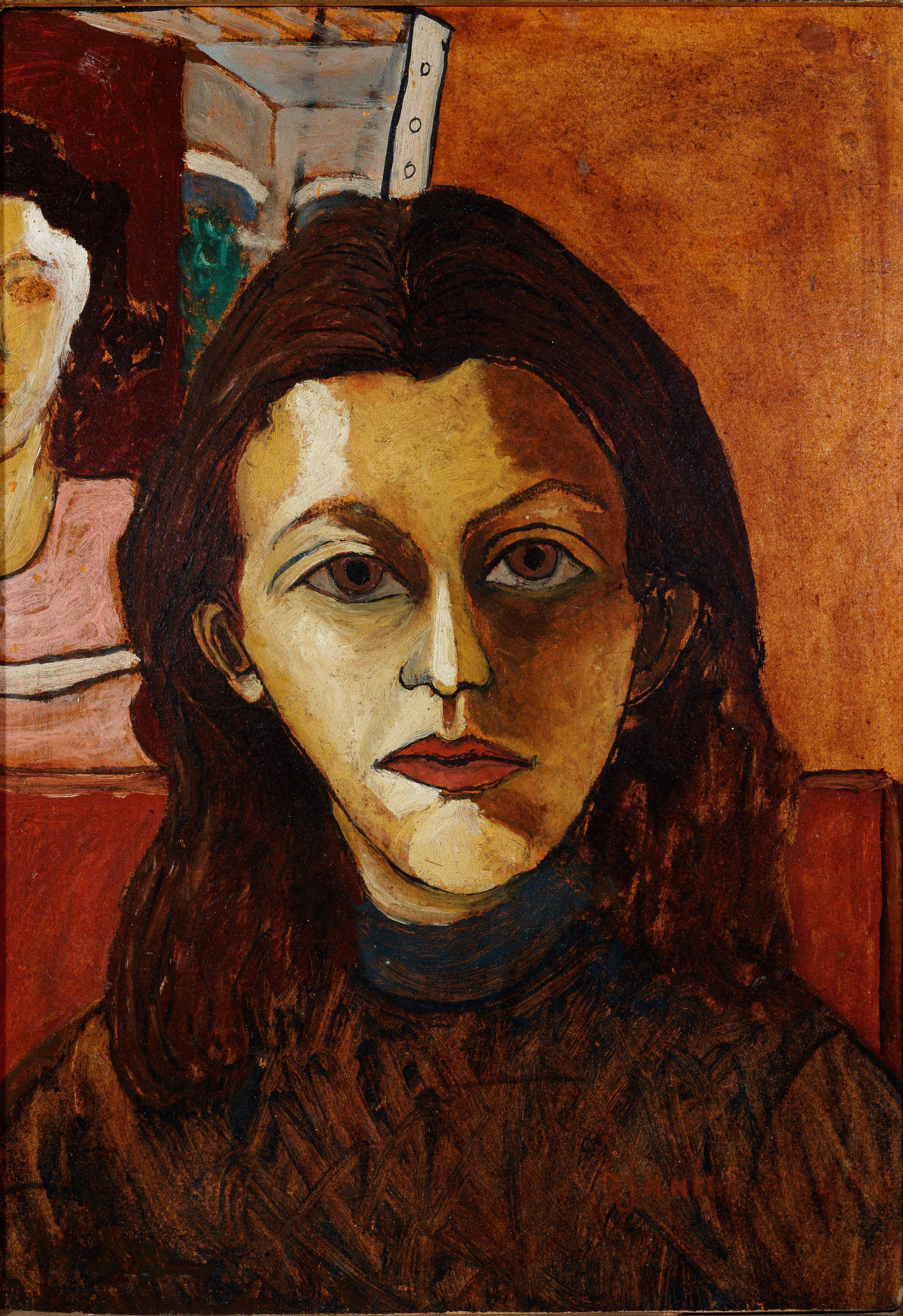 Djanira, Autorretrato,  1944, ´´oleo sobre madeira, 48 x 35 cm / Foto: Jaime Acioli