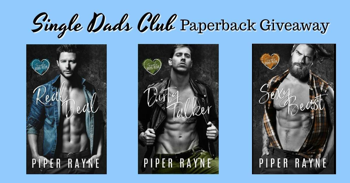 The gang is finally all her and to celebrate, we are giving away a paperback of Real Deal, Dirty Talker, and Sexy Beast along with a camp-themed book cozy to haul them around in!  Click your favorite Single dad to Enter!!!!