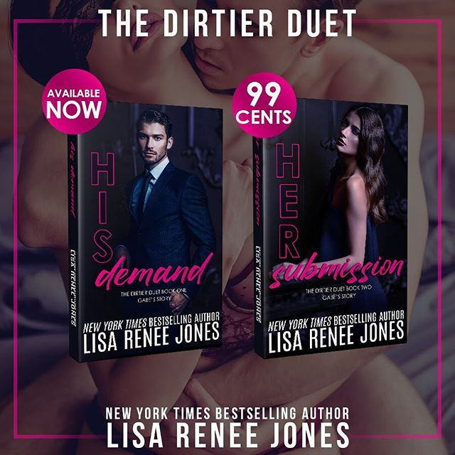 #RARESALE! @lisareneejones has put her second and final book in her DIRTIER DUET on SALE! Get HER SUBMISSION for just 99 CENTS for a limited time!  Visit dirtierduet.weebly.com to grab your copy!  ABOUT THE DIRTIER DUET Gabe Maxwell is a powerhouse in the boardroom, a man with a dark past he's buried under success and power. He's not a white picket fence and forever kind of guy and he's definitely not into redheads. That is until one corners him, kisses him and thanks him for waking her up. Right before she walks away and leaves him. She's gone and he's obsessed.  Then she walks into his office and back into his life, and he has to have her. It doesn't matter that she's the kind of woman you marry. It doesn't matter that she's everything he avoids because she's everything he wants.  Only Abbie isn't the good girl she seems. She has secrets and a past and soon, she'll pull Gabe into her bed, her life, and that spells more than obsession. It spells danger.   #booksofinstagram #bookstagram #oneclick #amazon #kindlebook #romance #booklove #bookish #mustread #igreads #sale #99cents #whitehotreads