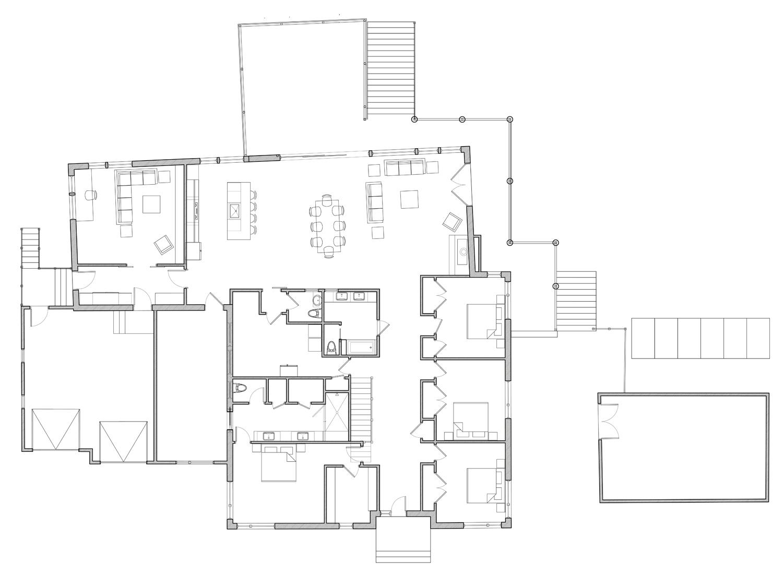 Schematic Design Floor Plan for Net Zero Lincoln House